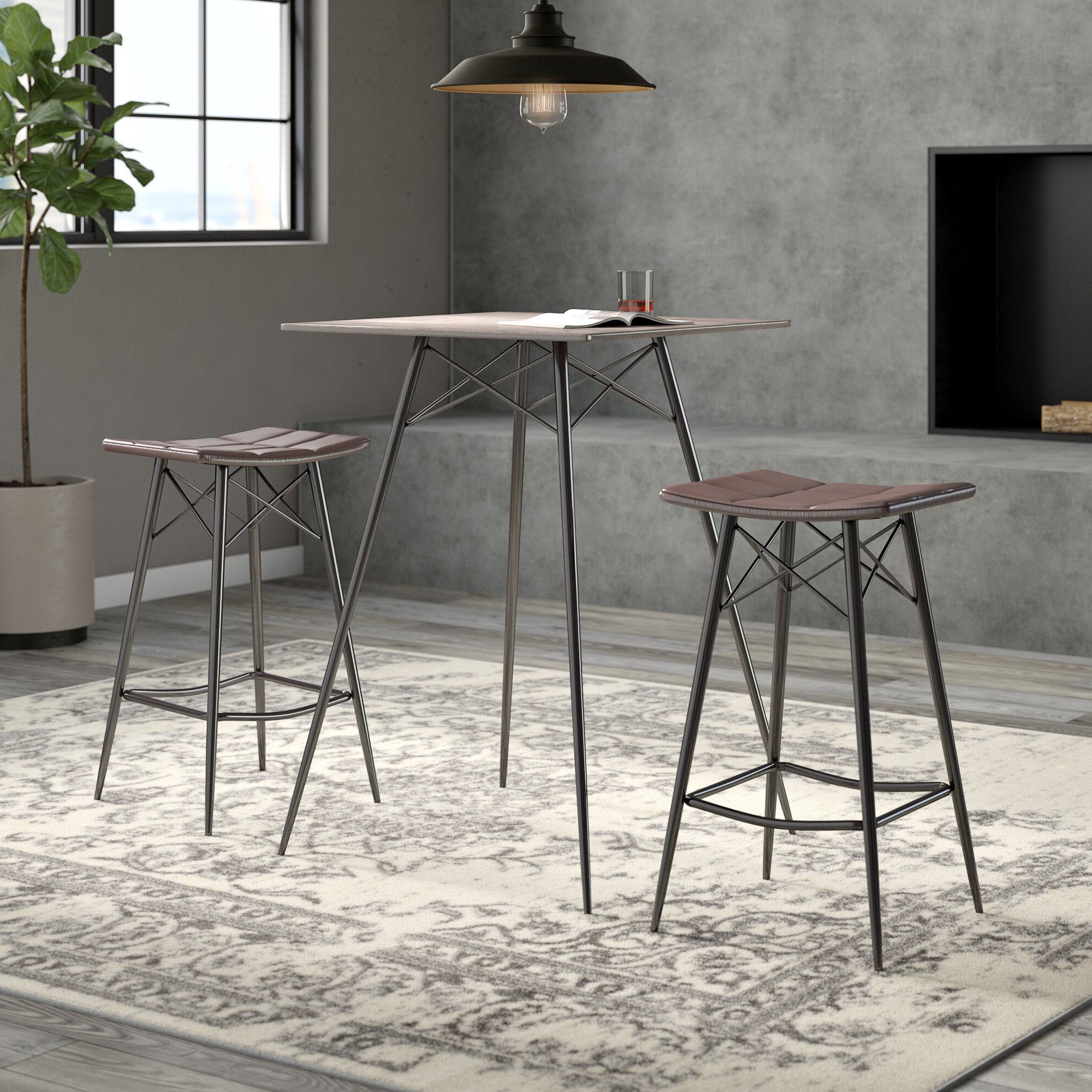 Wayfair Inside Latest Honoria 3 Piece Dining Sets (View 5 of 25)