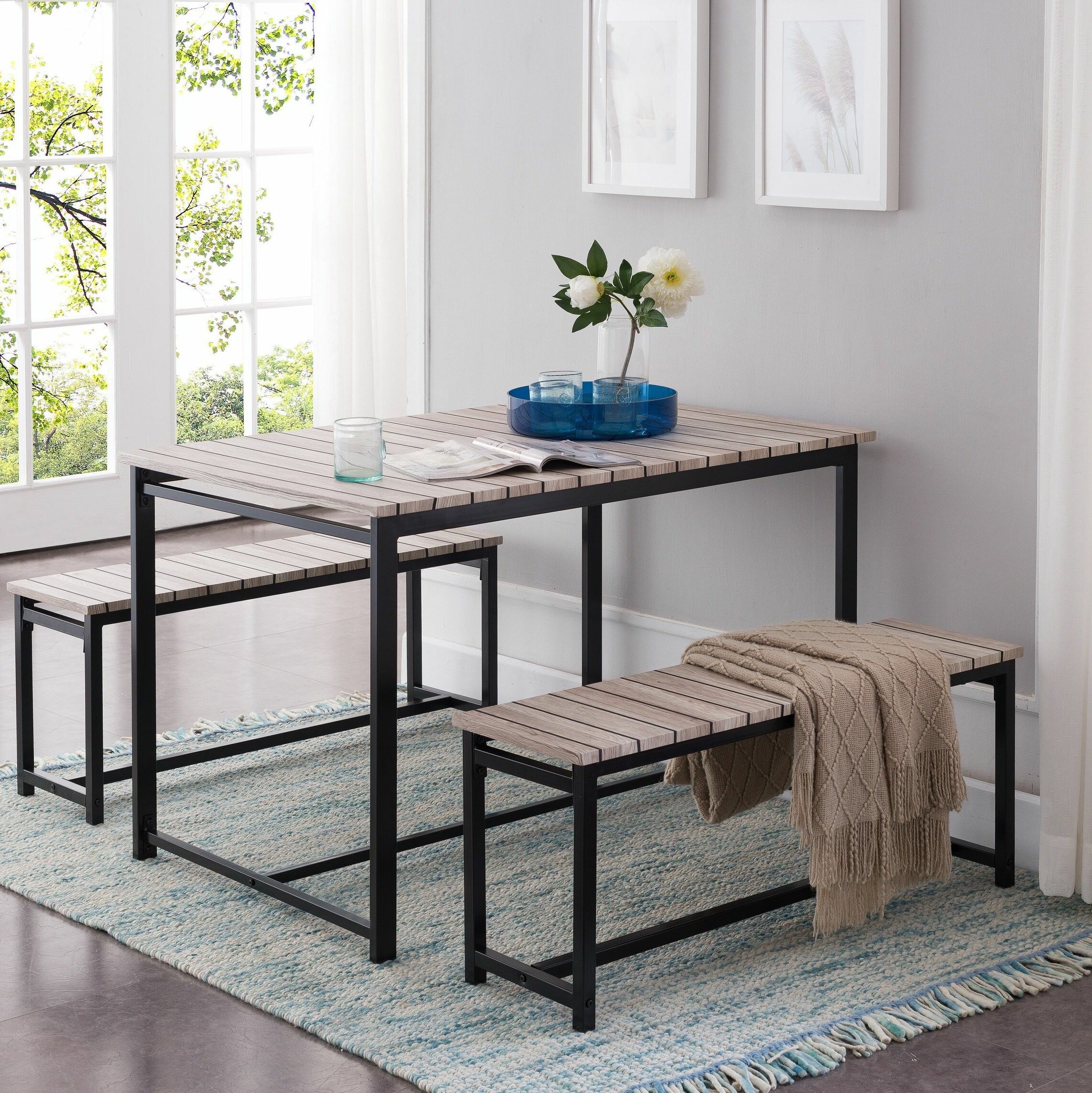 Wayfair intended for Rossiter 3 Piece Dining Sets