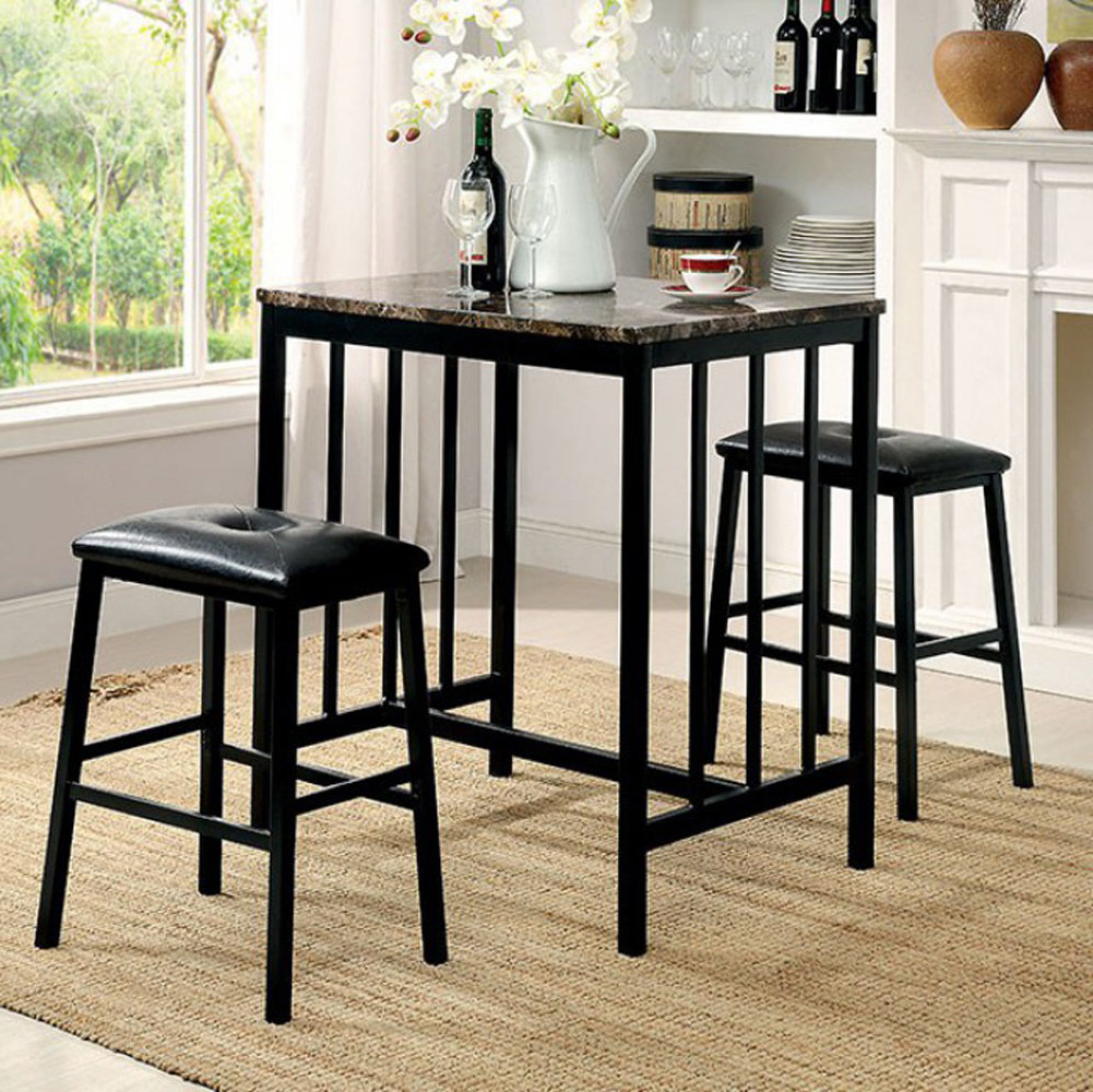 Wayfair Intended For Well Liked Moorehead 3 Piece Counter Height Dining Sets (View 23 of 25)