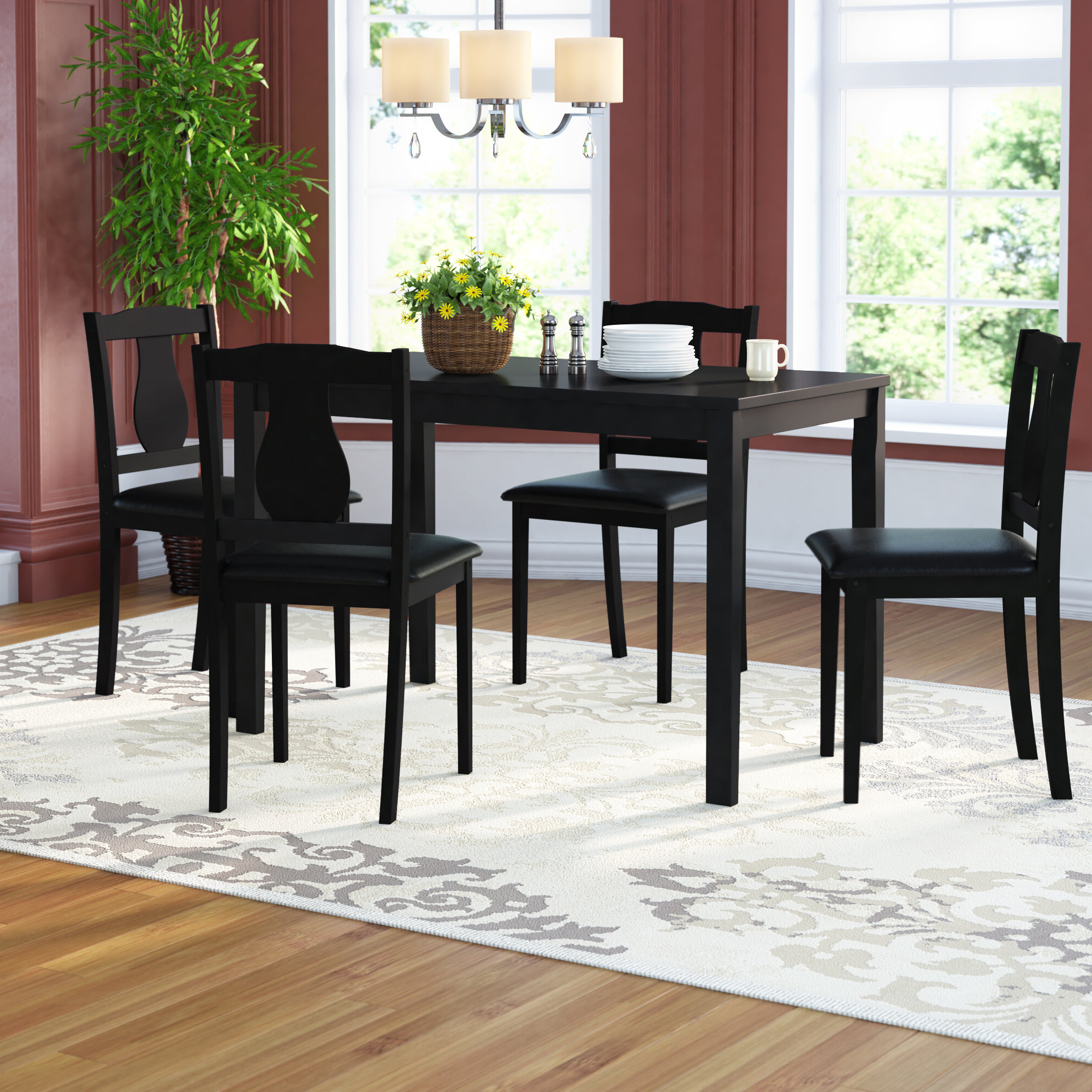 Wayfair Pertaining To Well Liked Maynard 5 Piece Dining Sets (View 5 of 25)
