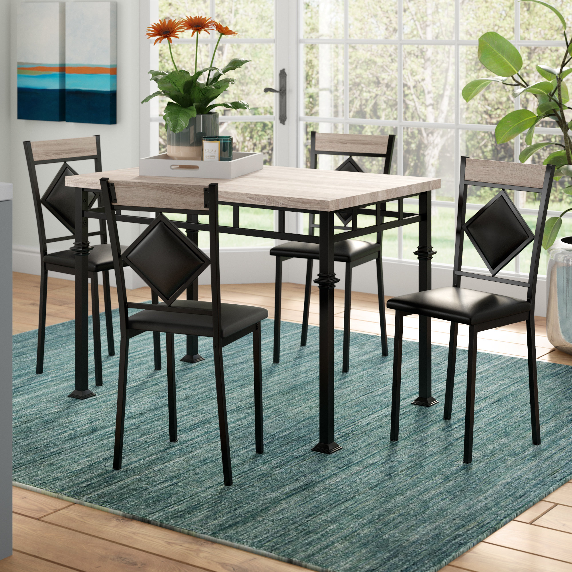 Wayfair Throughout Current Autberry 5 Piece Dining Sets (View 4 of 25)
