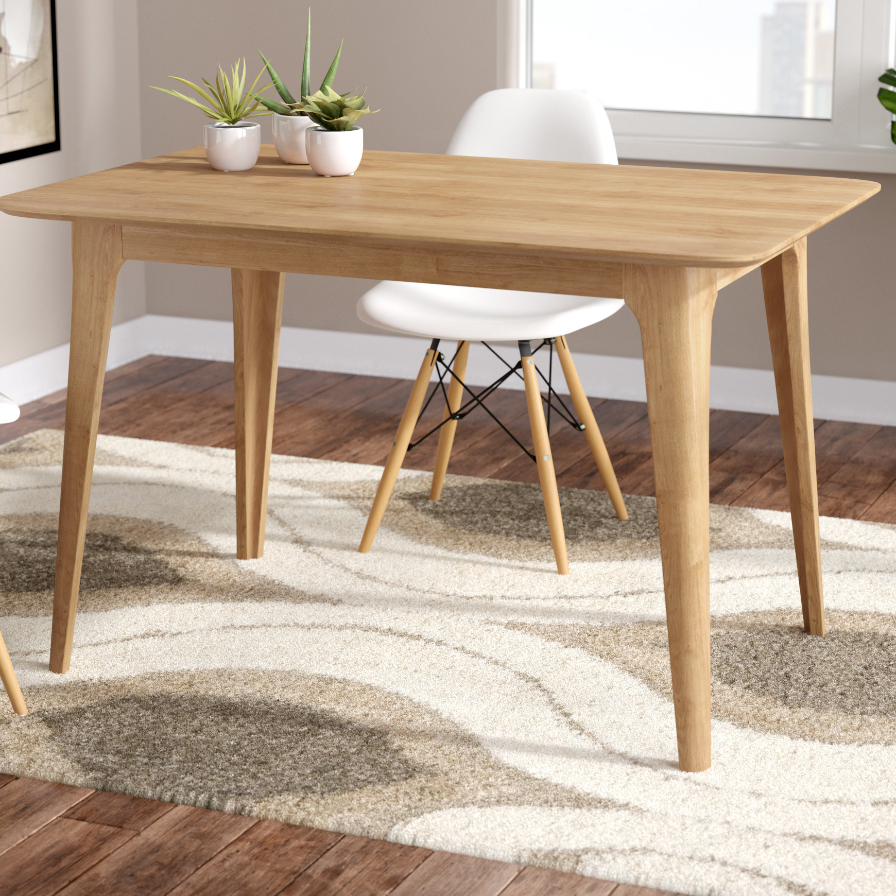 Wayfair Throughout Most Recent Amir 5 Piece Solid Wood Dining Sets (Set Of 5) (View 24 of 25)