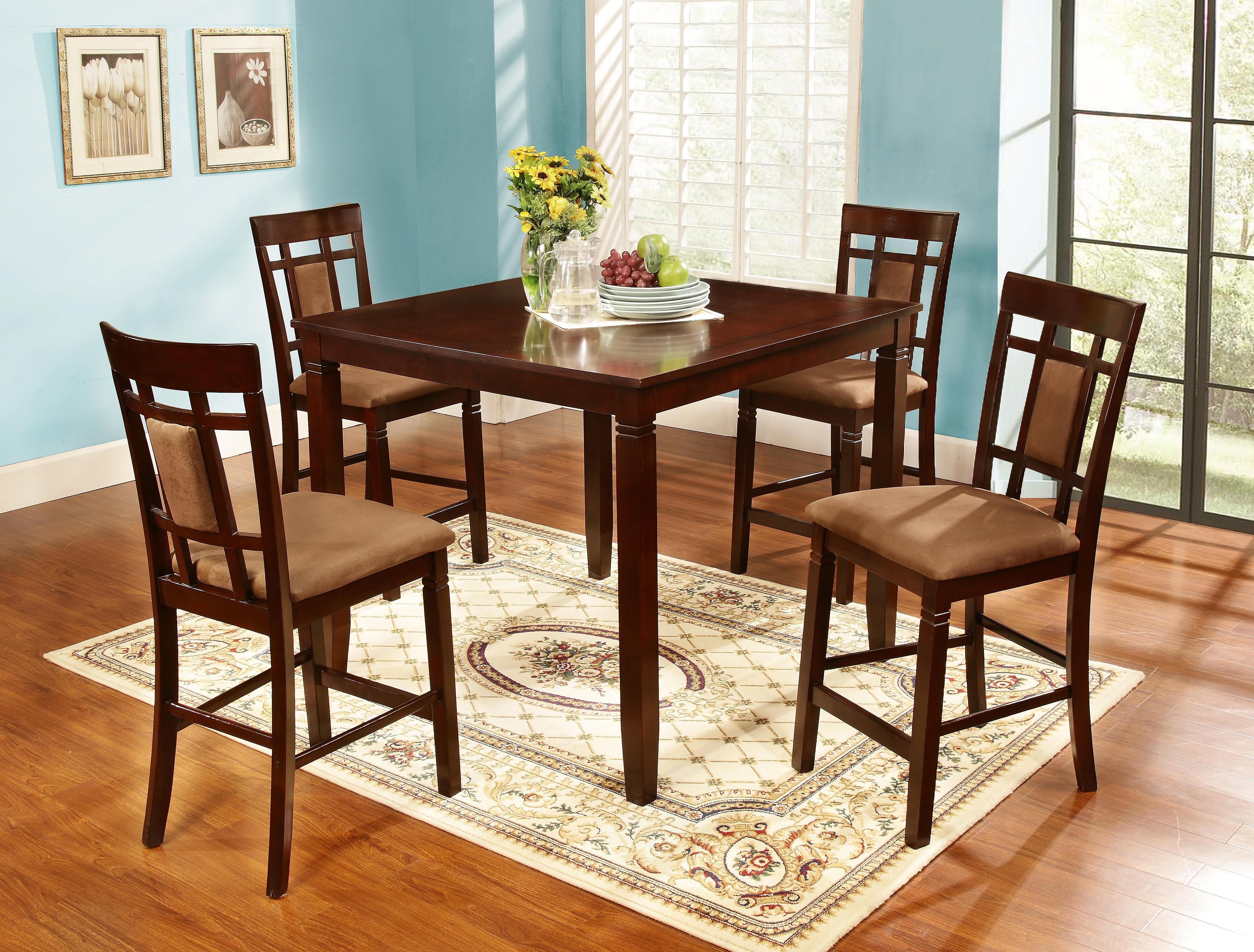 Wayfair With Biggs 5 Piece Counter Height Solid Wood Dining Sets (Set Of 5) (View 2 of 25)