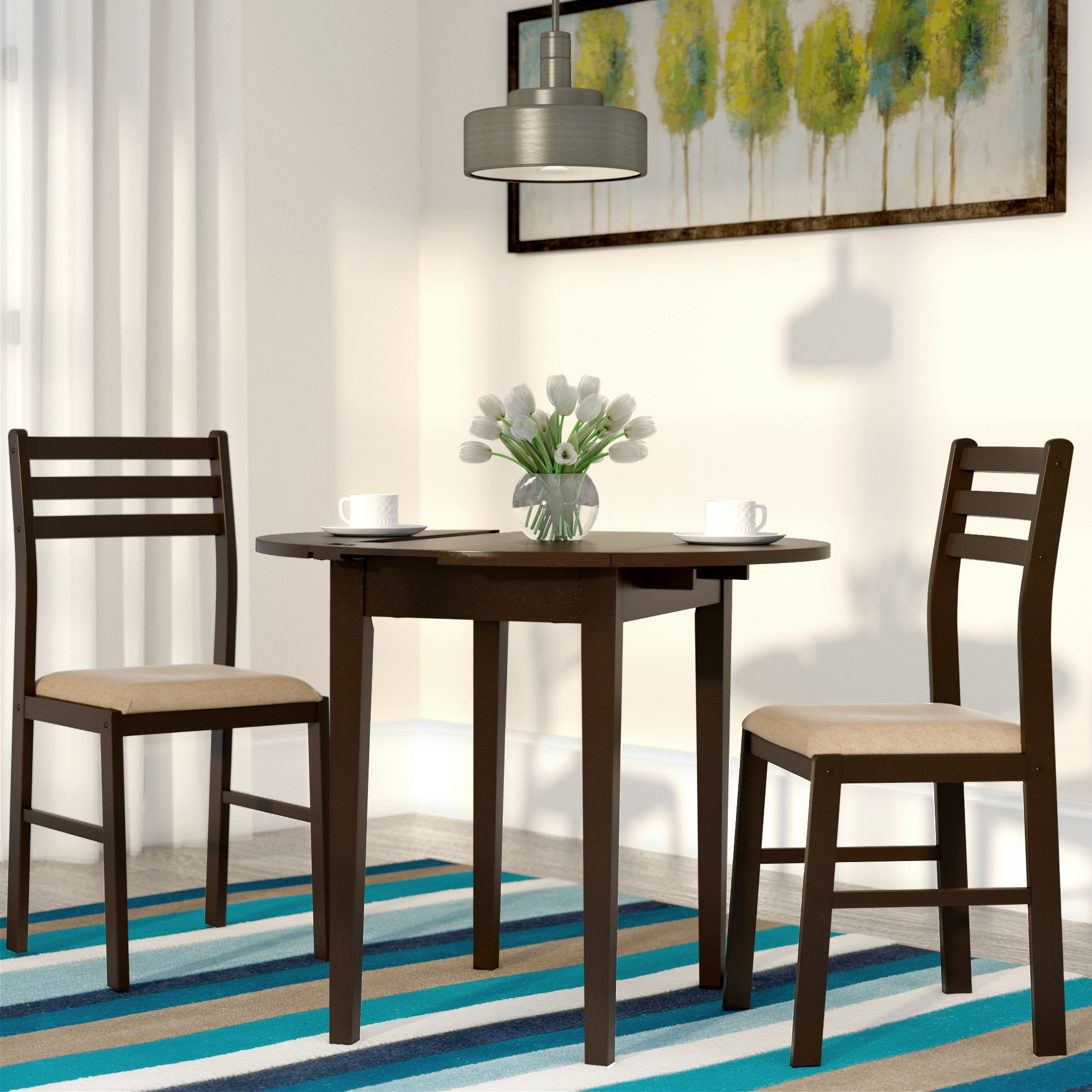 Wayfair With Kinsler 3 Piece Bistro Sets (View 6 of 25)