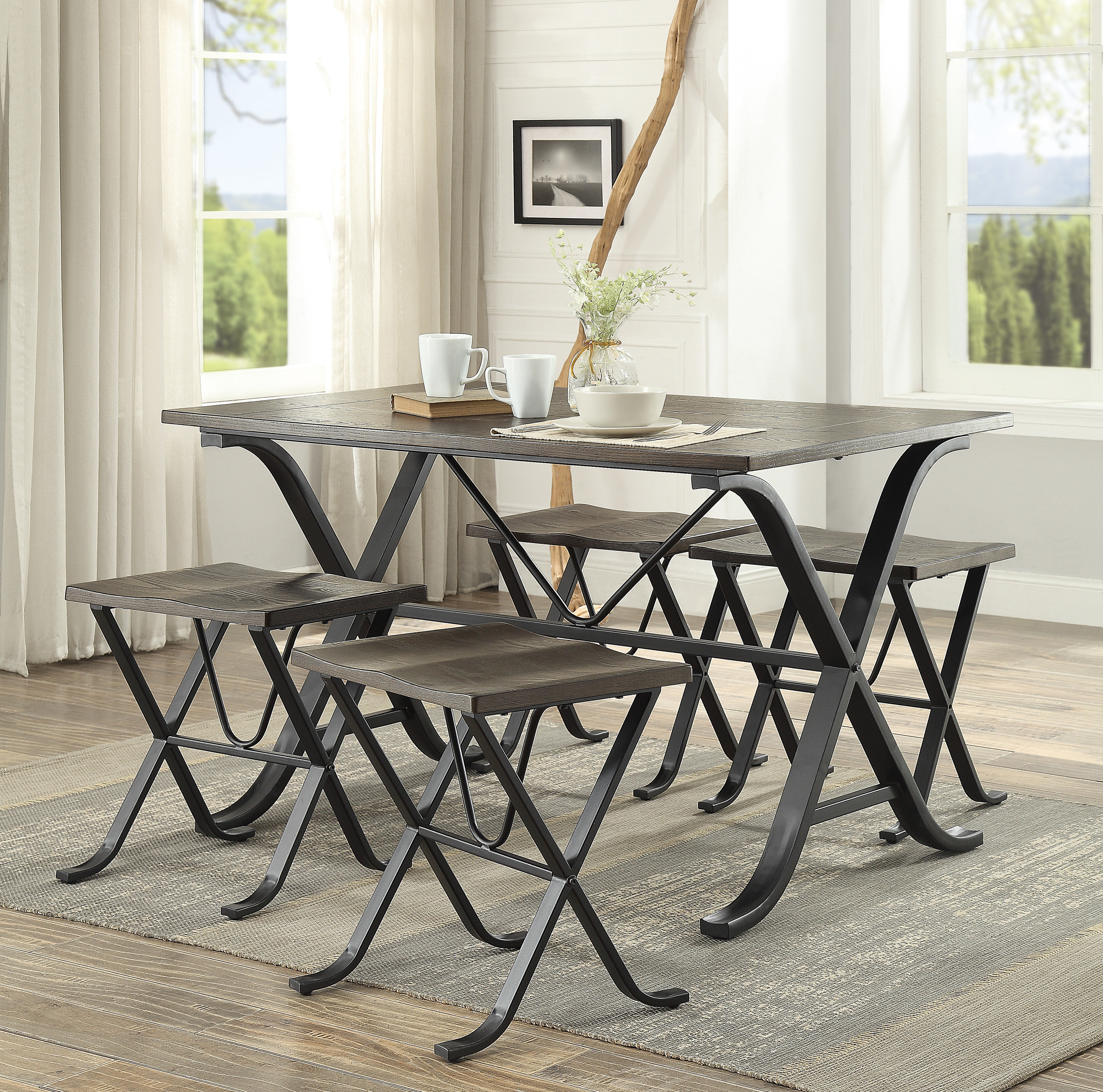 Wayfair With Most Up To Date Middleport 5 Piece Dining Sets (View 8 of 25)