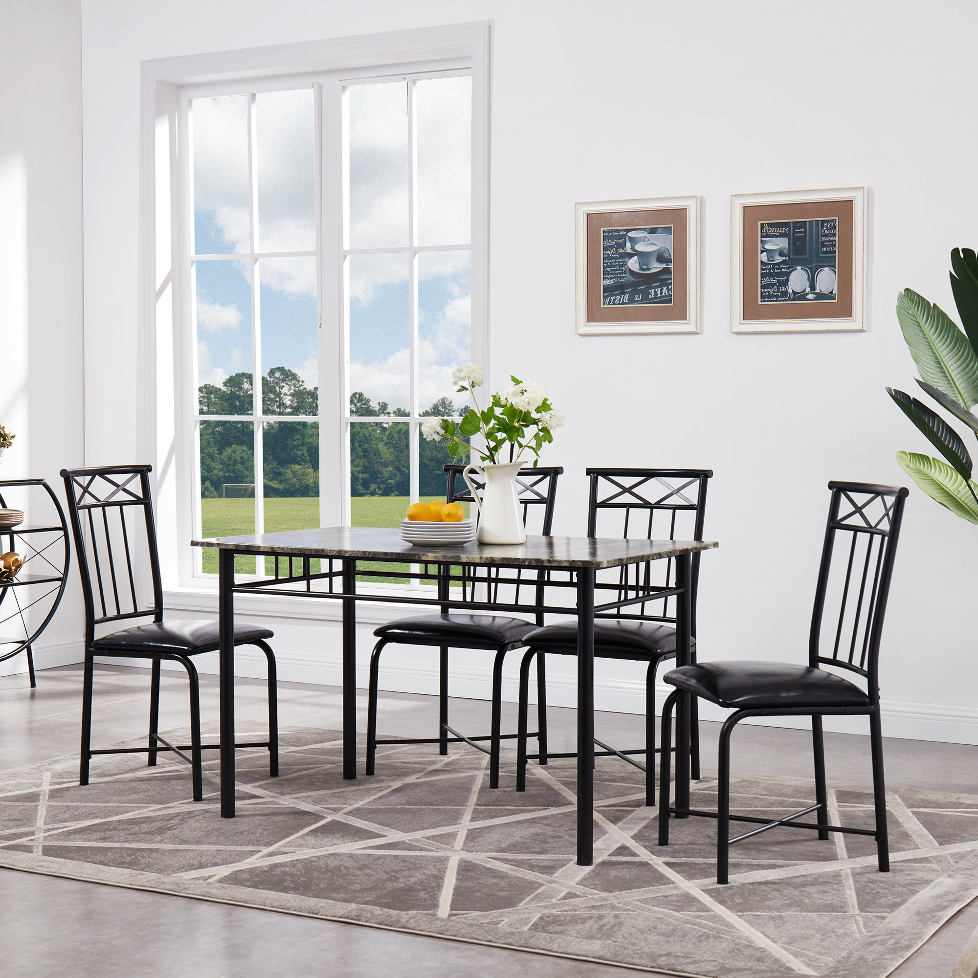 Wayfair Within Current Taulbee 5 Piece Dining Sets (View 4 of 25)