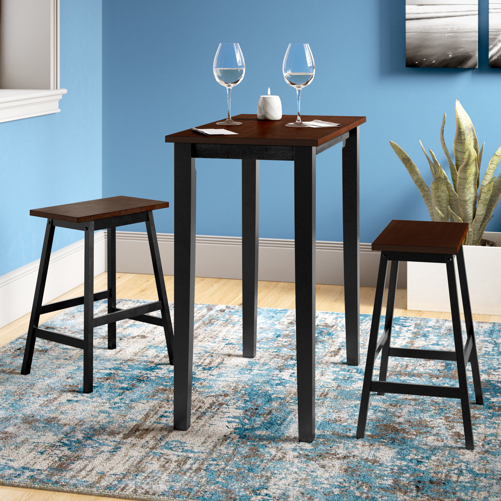 Wayfair Within Ryker 3 Piece Dining Sets (View 5 of 25)
