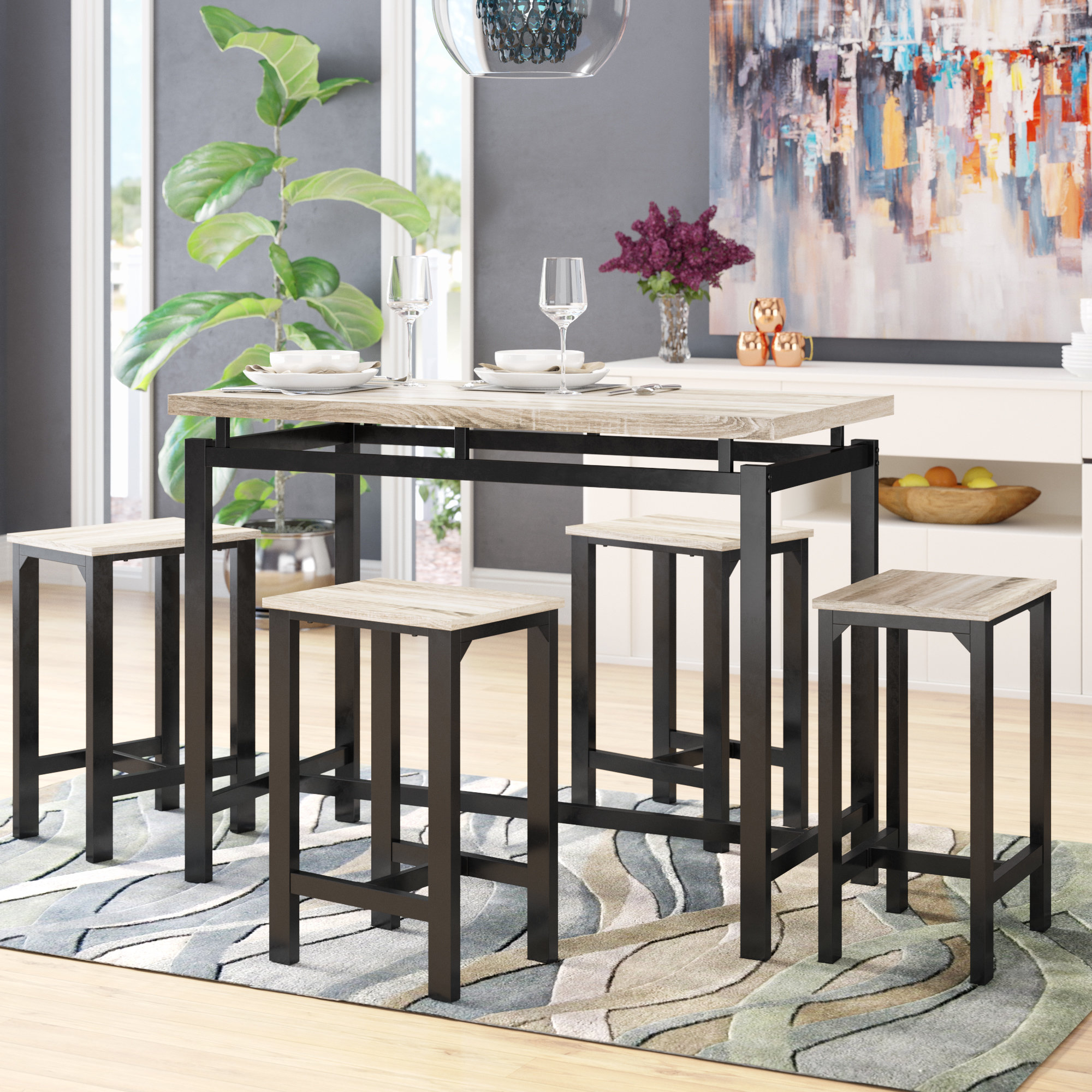 Weatherholt Dining Tables In Recent Latitude Run Weatherholt 5 Piece Pub Table Set & Reviews (View 21 of 25)