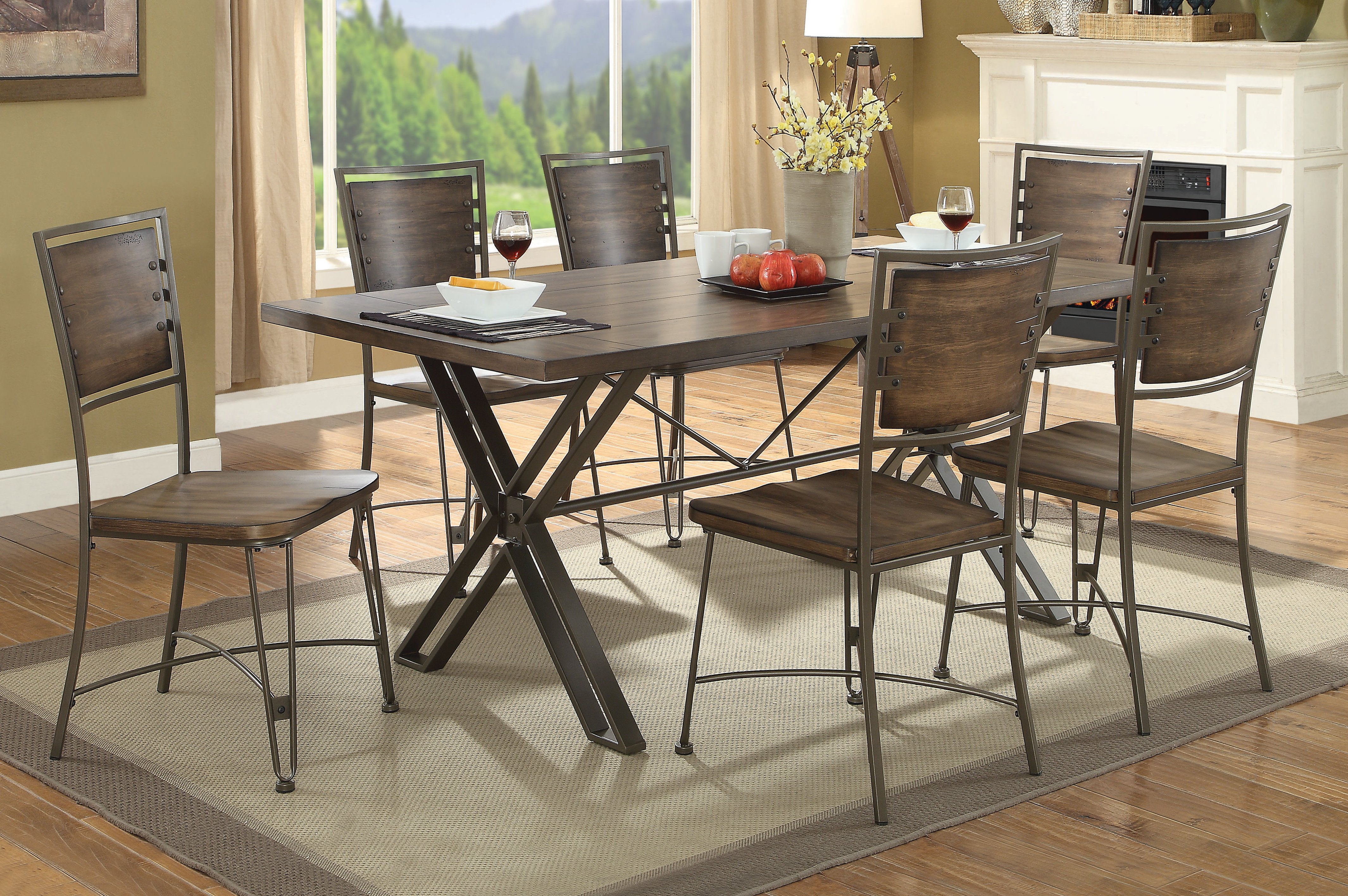 Well Known 17 Stories Vada 7 Piece Dining Set (View 19 of 25)