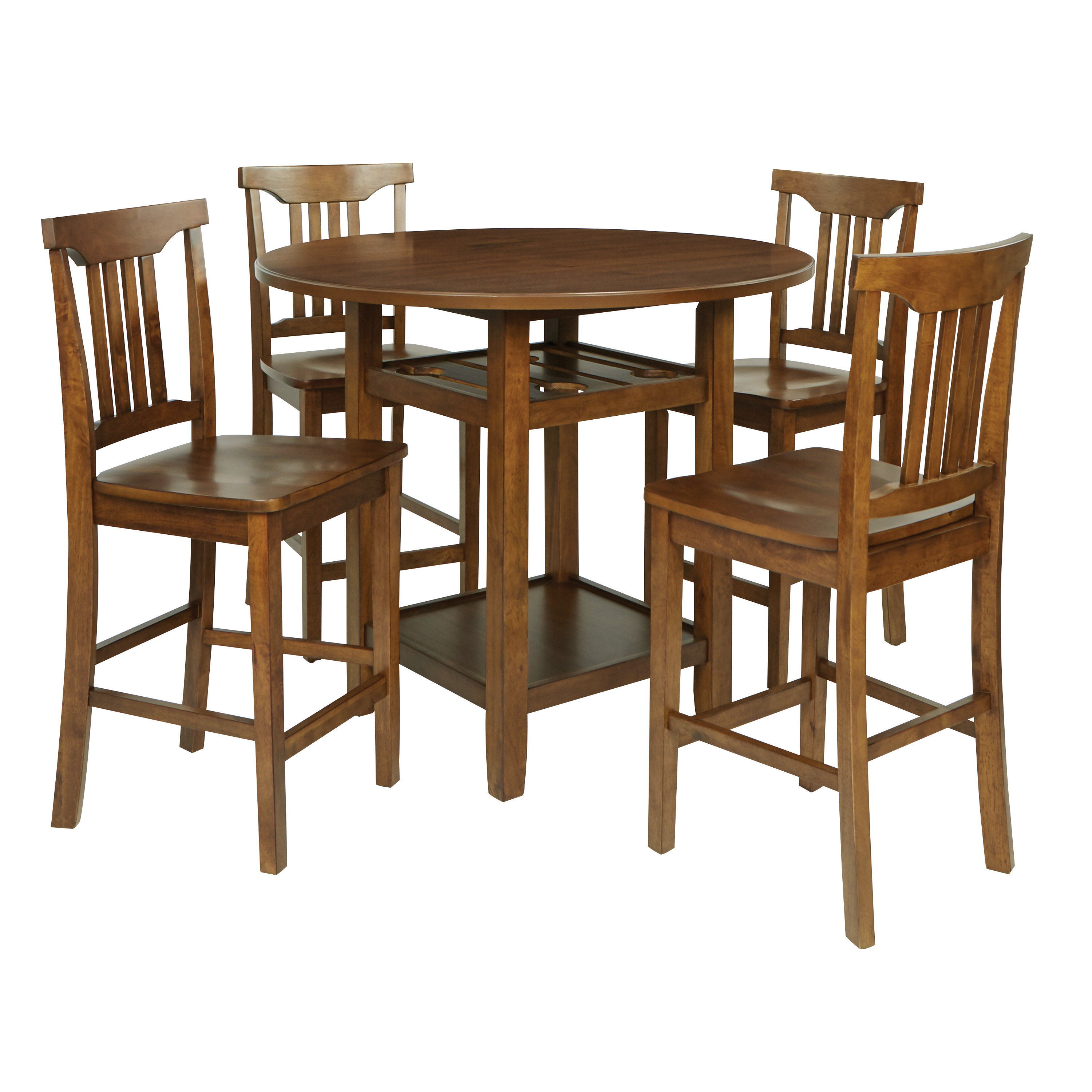 Well Known 5 Piece Breakfast Nook Dining Sets For Breakwater Bay East Village 5 Piece Counter Height Breakfast Nook (View 21 of 25)