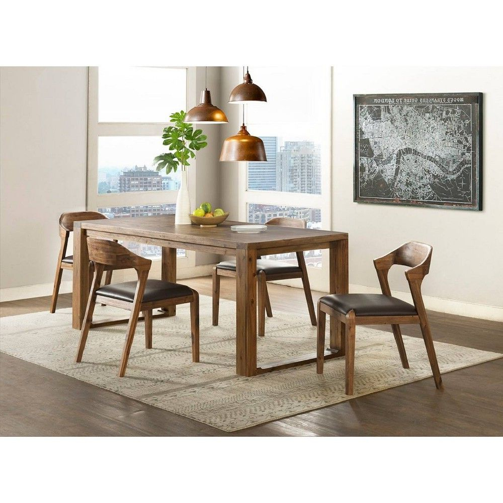 Well Known 5Pc Rasmus Dining Set With Side Chairs Chestnut (Brown) – Boraam In Throughout Mukai 5 Piece Dining Sets (View 23 of 25)