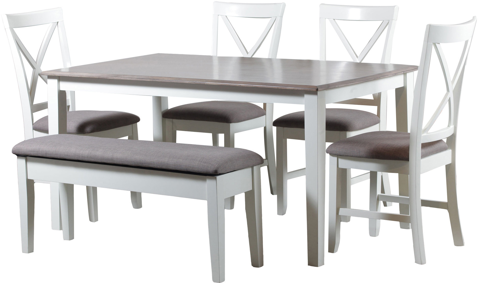 Well Known Amaury 6 Piece Dining Set (View 7 of 25)