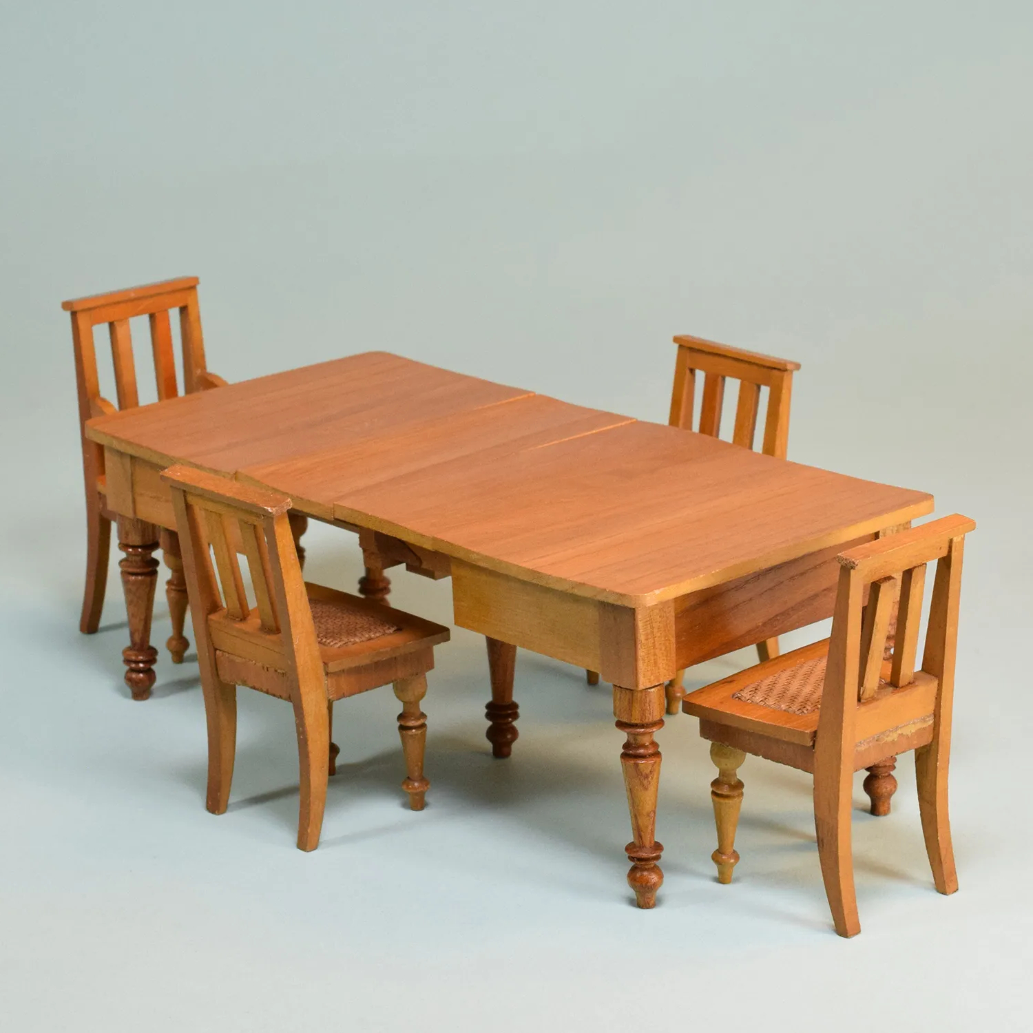 Well Known Antique German Schneegas Dollhouse Extension Dining Table Late 1800S With Sundberg 5 Piece Solid Wood Dining Sets (View 24 of 25)