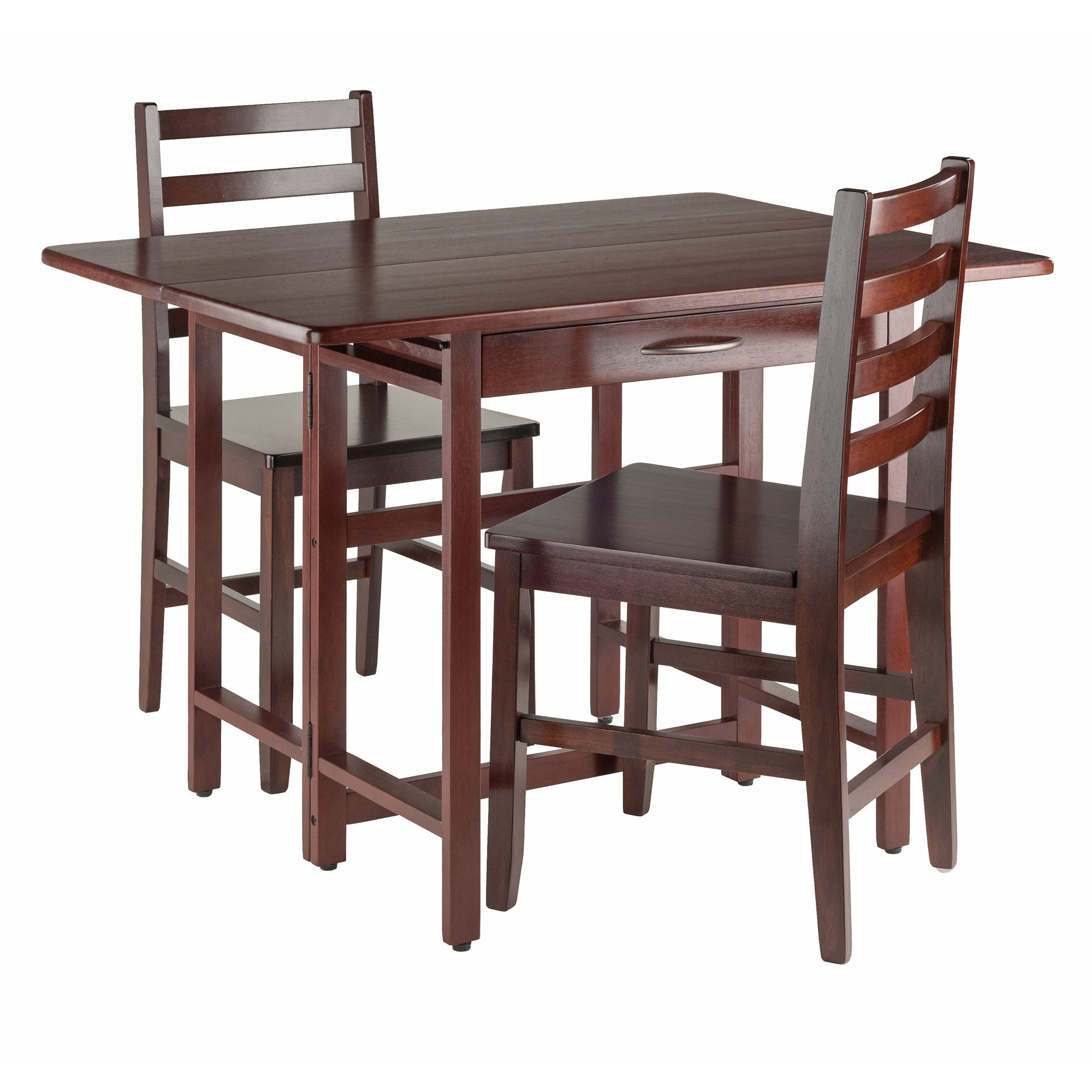 Well Known Crownover 3 Piece Bar Table Sets In Red Barrel Studio Culley 3 Piece Drop Leaf Dining Set & Reviews (View 23 of 25)