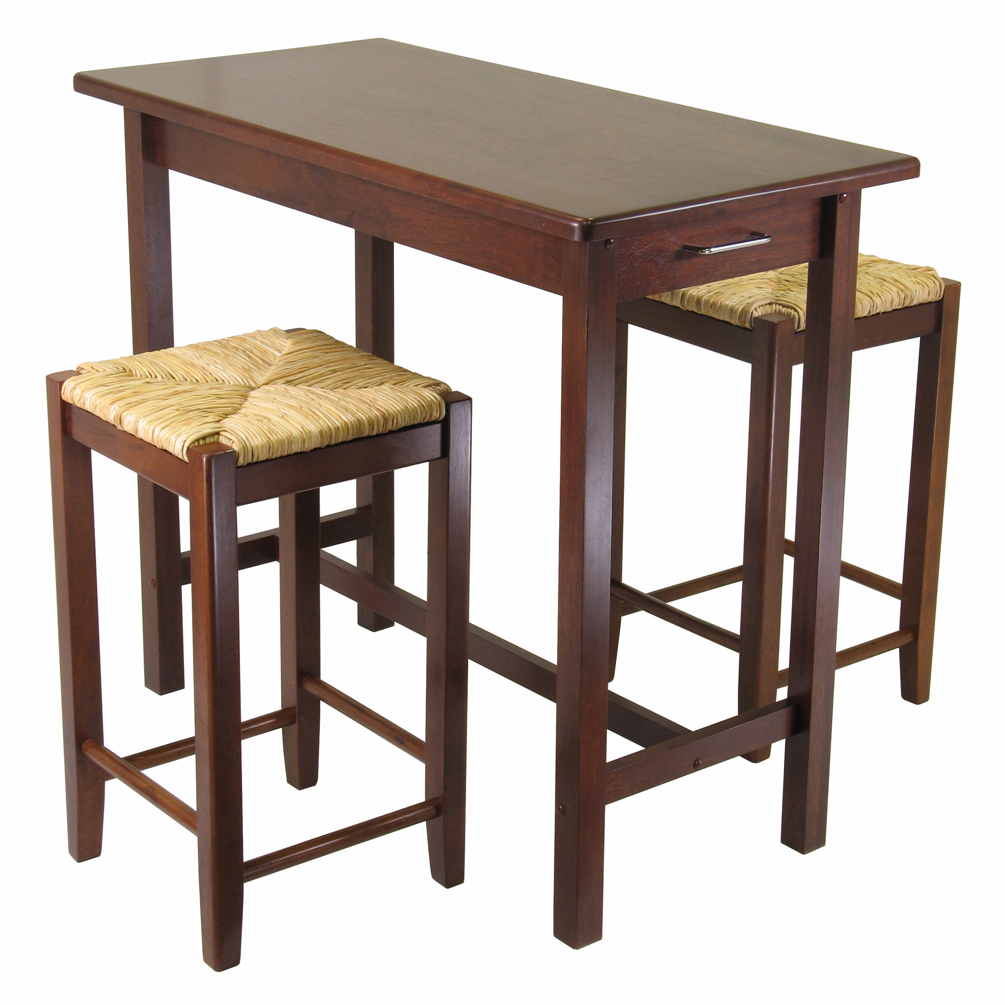 Well Known Crownover 3 Piece Bar Table Sets With Winsome Winsome 3 Piece Counter Height Dining Set & Reviews (View 22 of 25)
