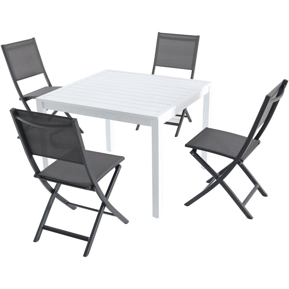 Well Known Delmar 5 Piece Dining Sets Intended For Hanover Del Mar 5 Piece Aluminum Outdoor Dining Set With 4 Sling (View 22 of 25)