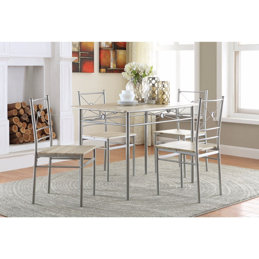 Well Known Ebern Designs Constandache 5 Piece Dining Set (View 15 of 25)