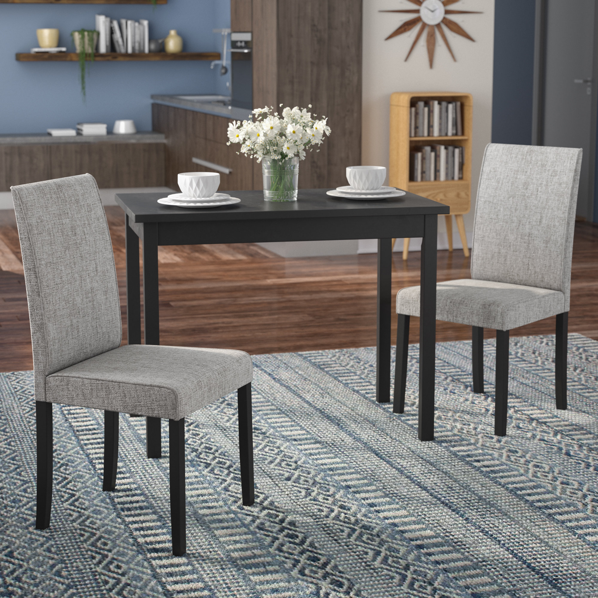 Well Known Isolde 3 Piece Dining Sets Inside Latitude Run Darvell 3 Piece Dining Set & Reviews (View 2 of 25)