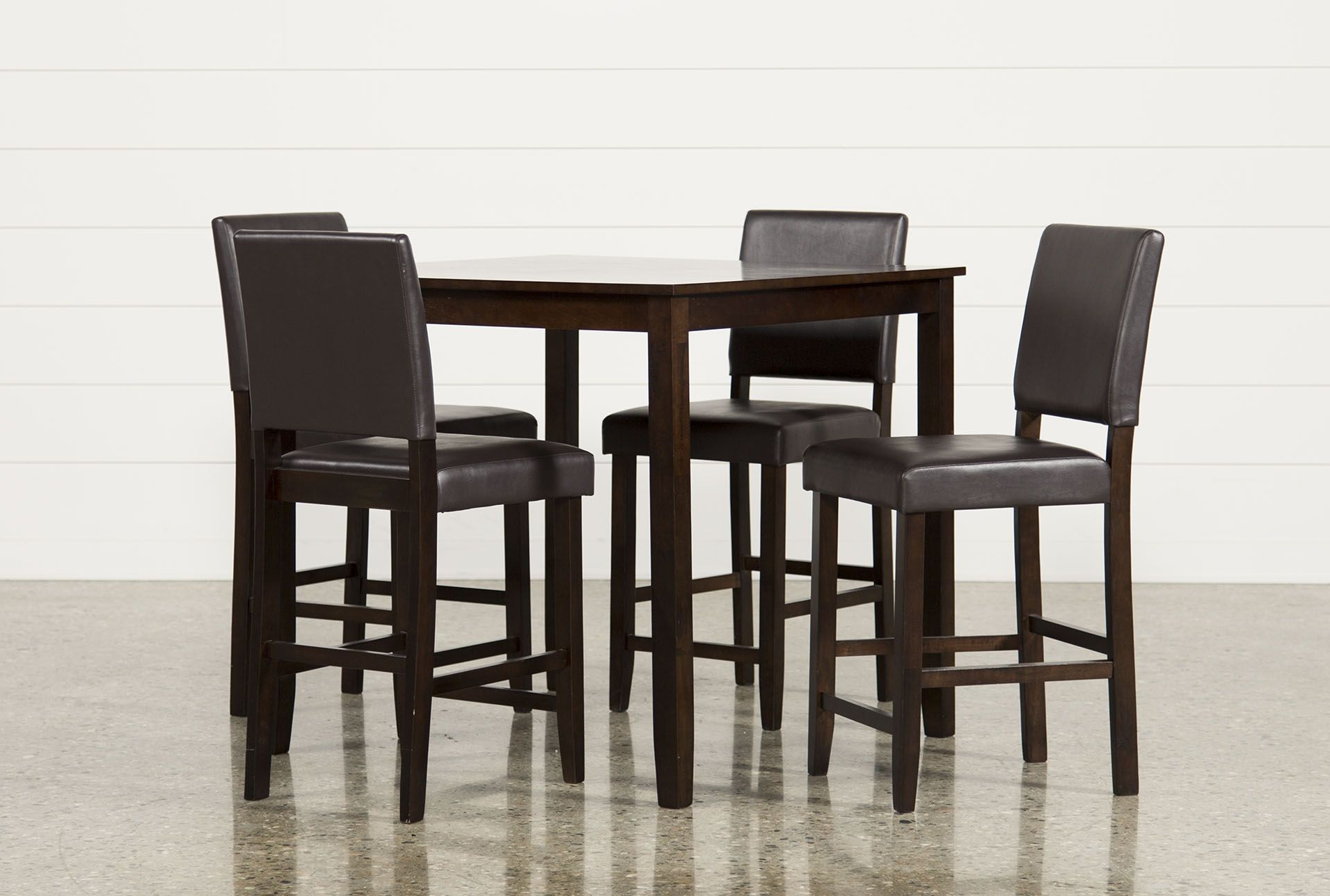 Well Known Jarrod 5 Piece Dining Sets In Jarrod 5 Piece Counter Set, Cappucino, Kitchen & Dining Furniture (View 2 of 25)