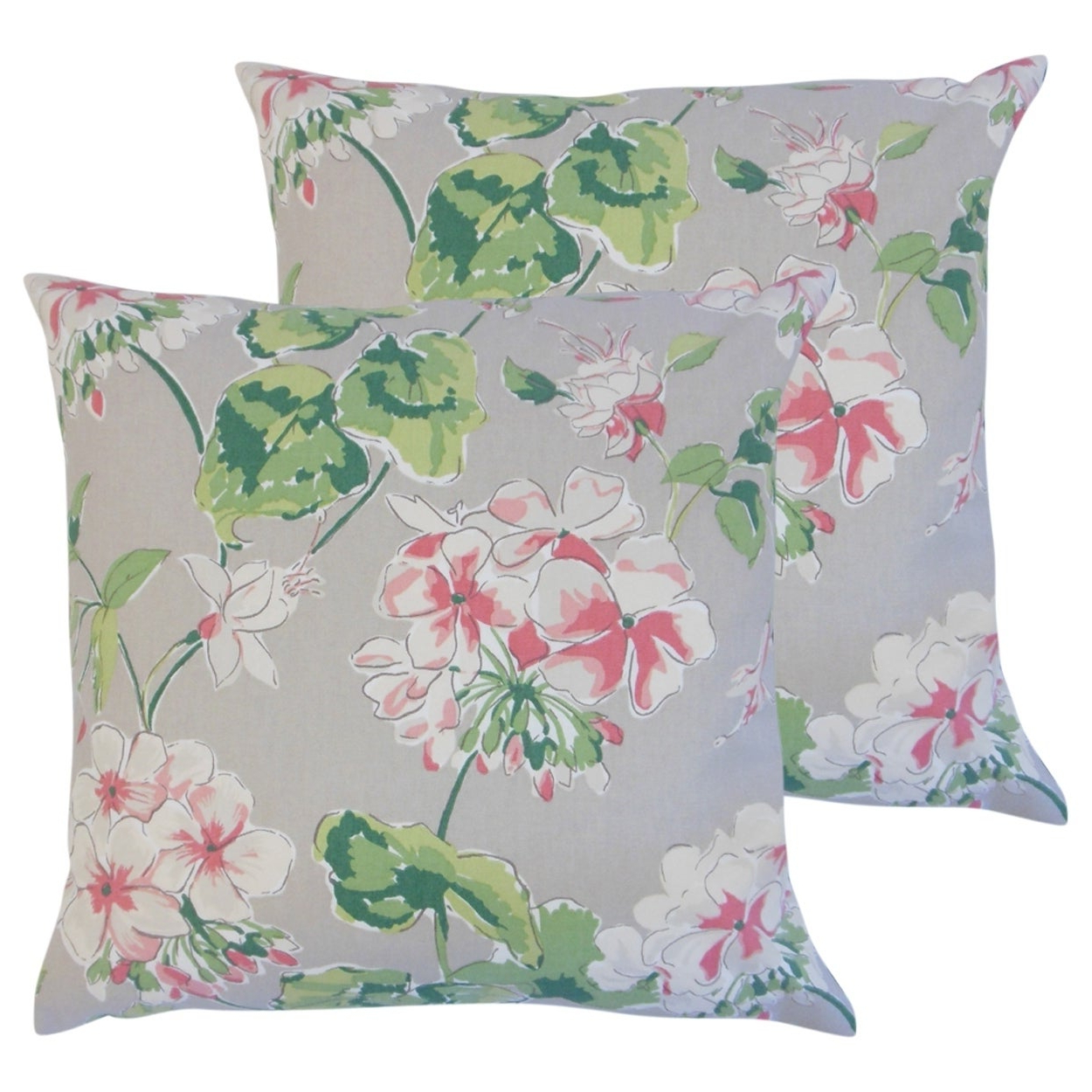 Well Known Kaelin 5 Piece Dining Sets Within Shop Set Of 2 Kaelin Floral Throw Pillows In Celadon – Free Shipping (View 25 of 25)