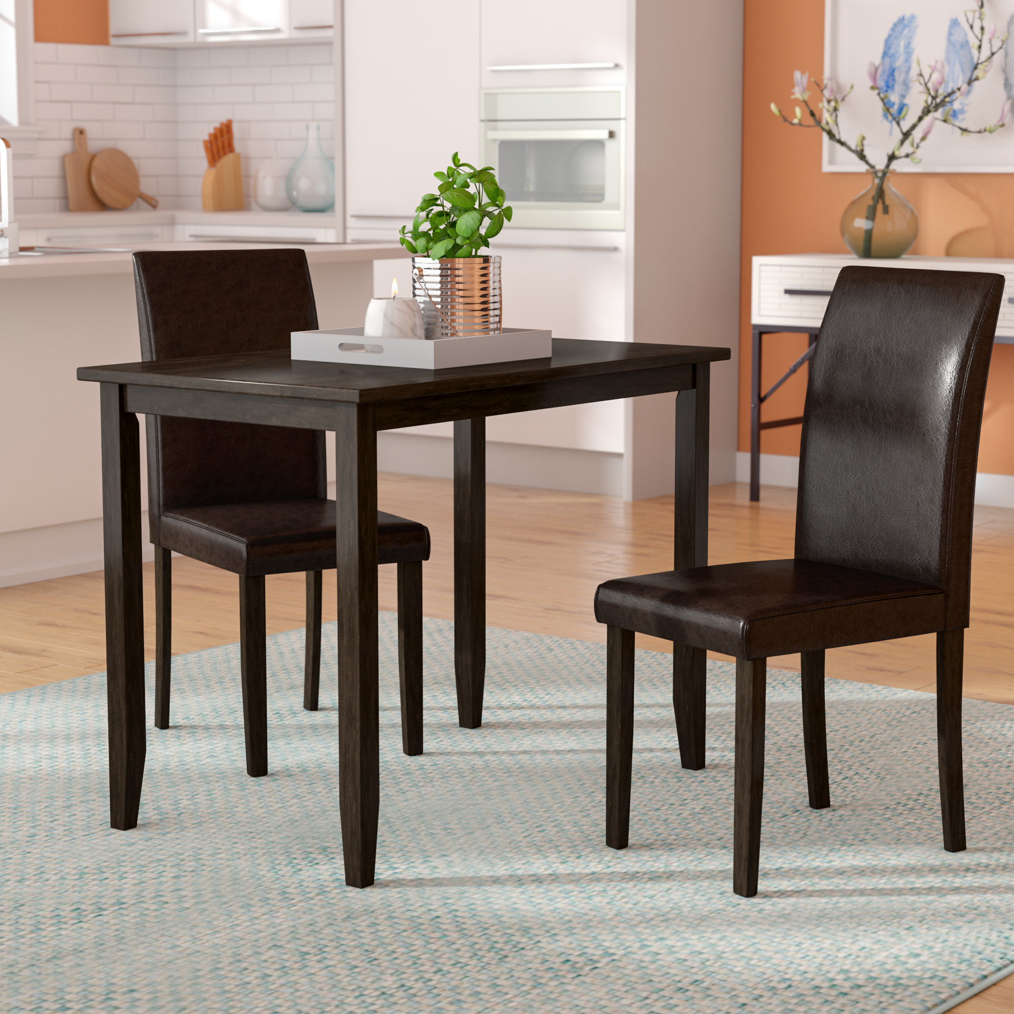 Well Known Latitude Run Baillie 3 Piece Dining Set & Reviews (View 9 of 25)