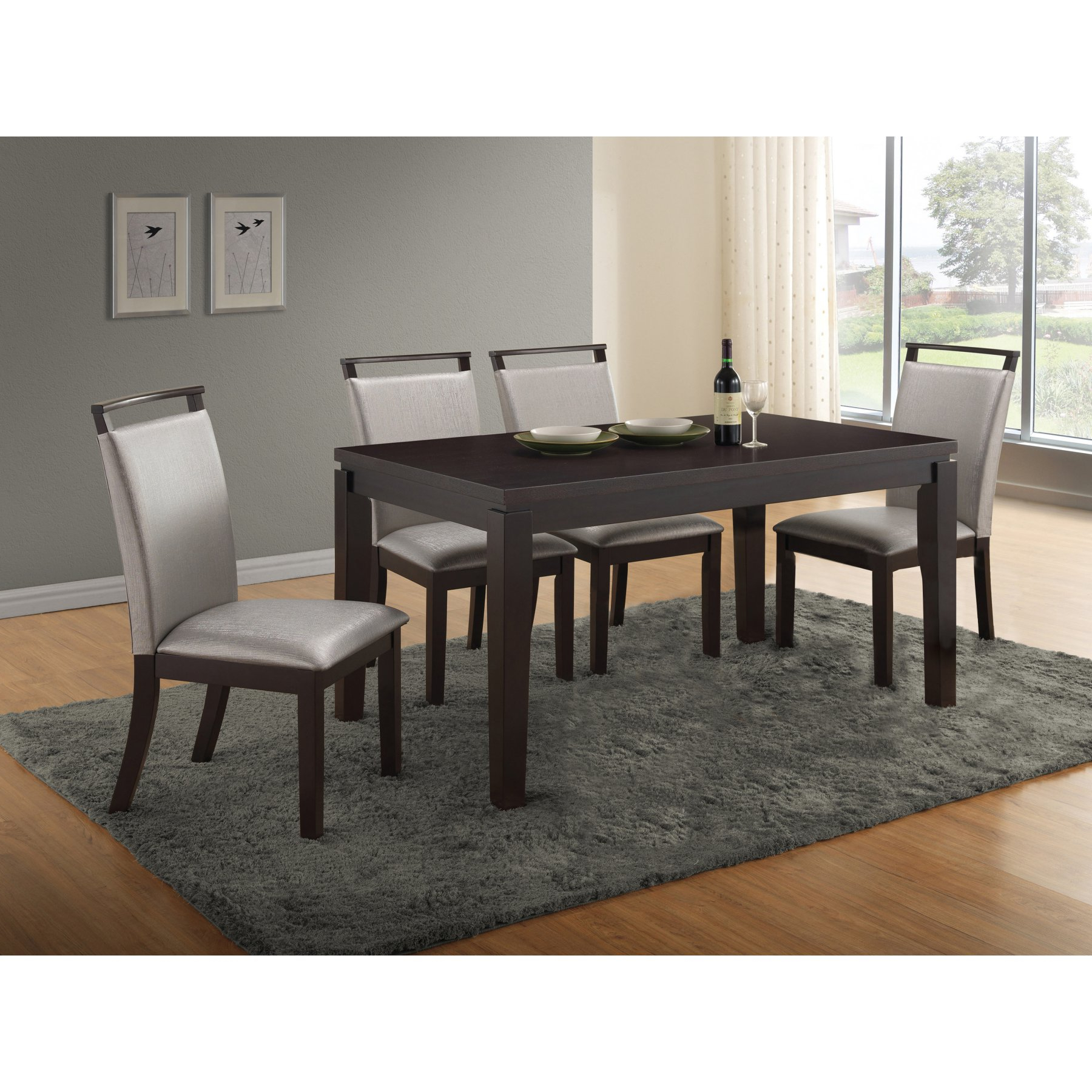 Well Known Maynard 5 Piece Dining Sets Within Home Source Industries Christy 5 Piece Dining Table Set – H 6050 (View 3 of 25)