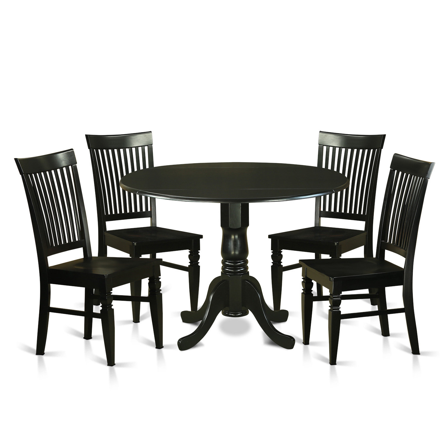 Well Known Pattonsburg 5 Piece Dining Sets Throughout Spruill 5 Piece Drop Leaf Solid Wood Wood Dining Set & Reviews (View 24 of 25)