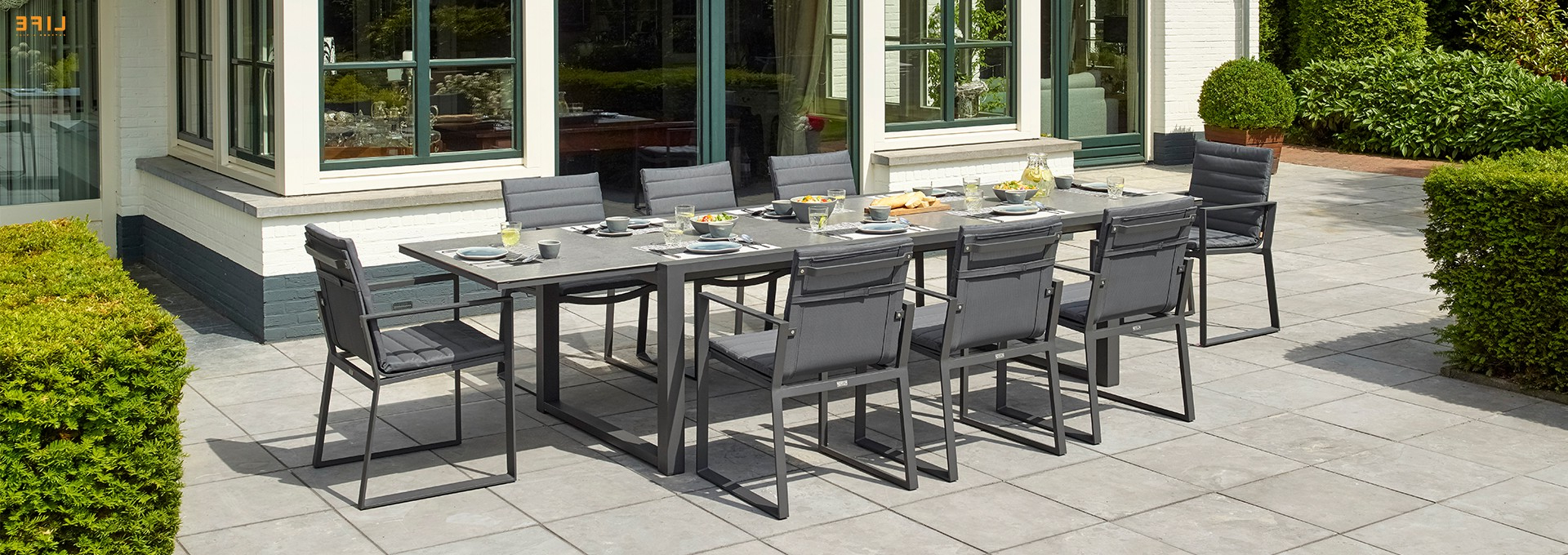 Well Known Primavera Dining Extendable Lava – Life Outdoor Living Inside Osterman 6 Piece Extendable Dining Sets (Set Of 6) (View 25 of 25)