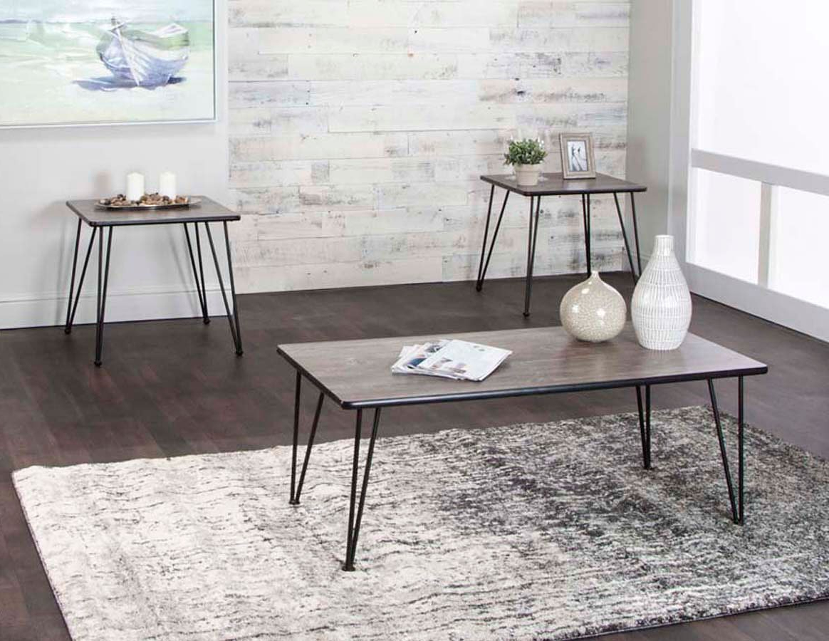 Well Known Ryker 3 Piece Dining Sets Regarding Ryker 3 Piece Vintage Laminate Occasional Table Setcramco (View 15 of 25)