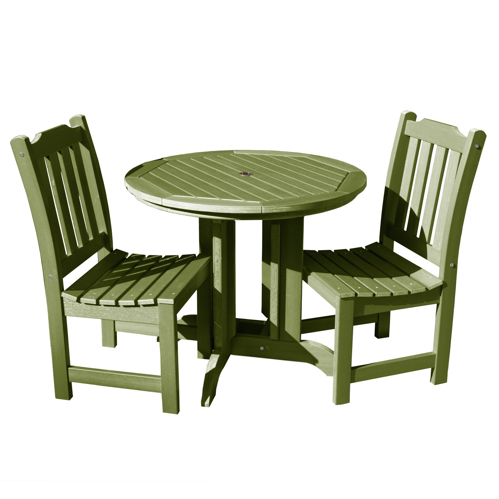 Well Known Saintcroix 3 Piece Dining Sets Regarding Outdoor Highwood Lehigh Recycled Plastic 3 Piece Round Patio Bistro (View 7 of 25)