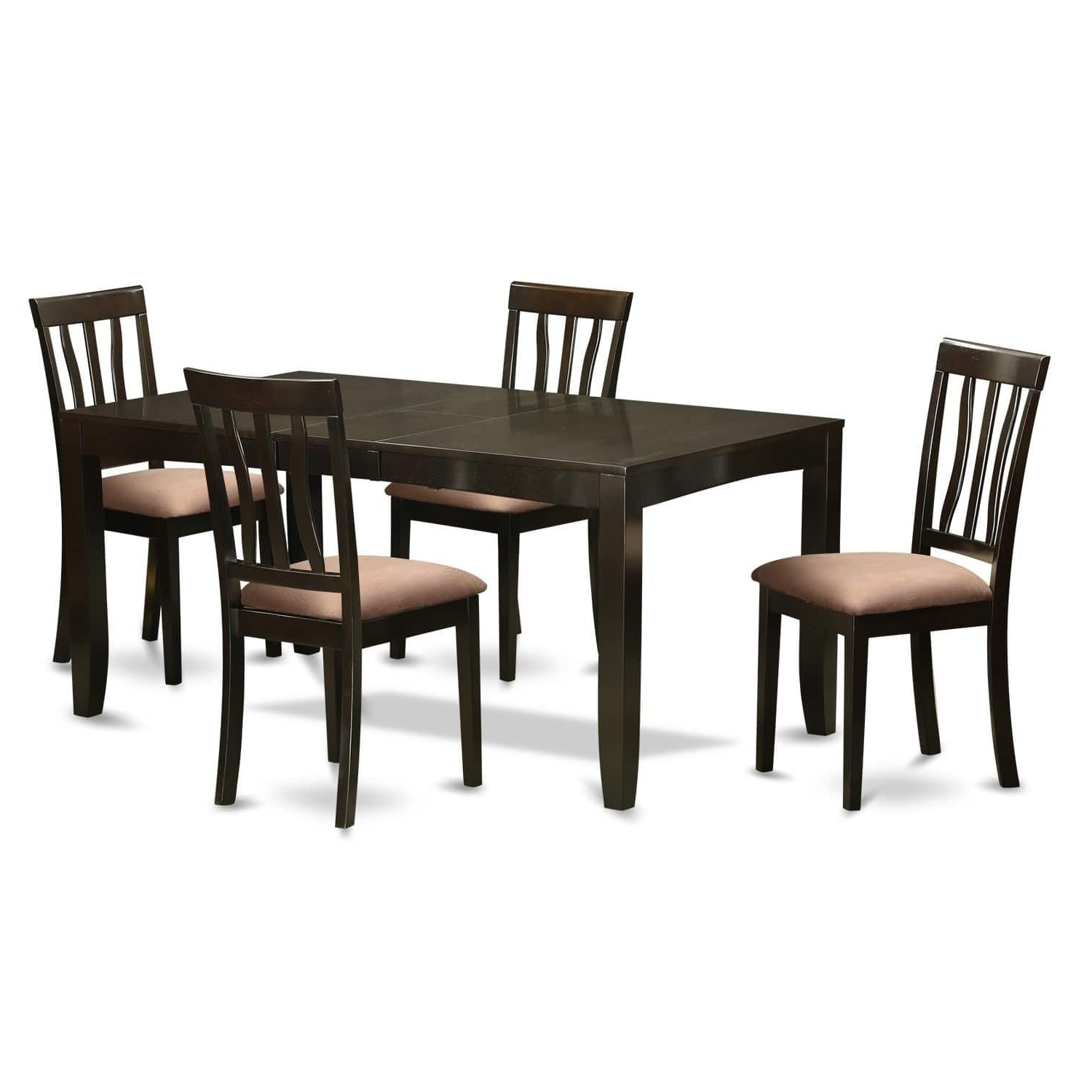 Well Known Smyrna 3 Piece Dining Sets With Regard To Lyan5 Cap 5 Pc Dining Set For 4  Tables With Leaf And 4 Chairs (View 24 of 25)