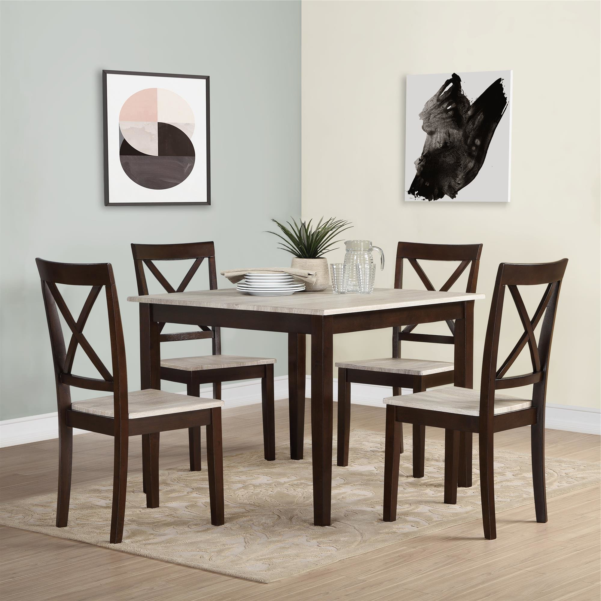 Well Known Tenney 3 Piece Counter Height Dining Sets Pertaining To Tilley Rustic 5 Piece Dining Set & Reviews (View 25 of 25)