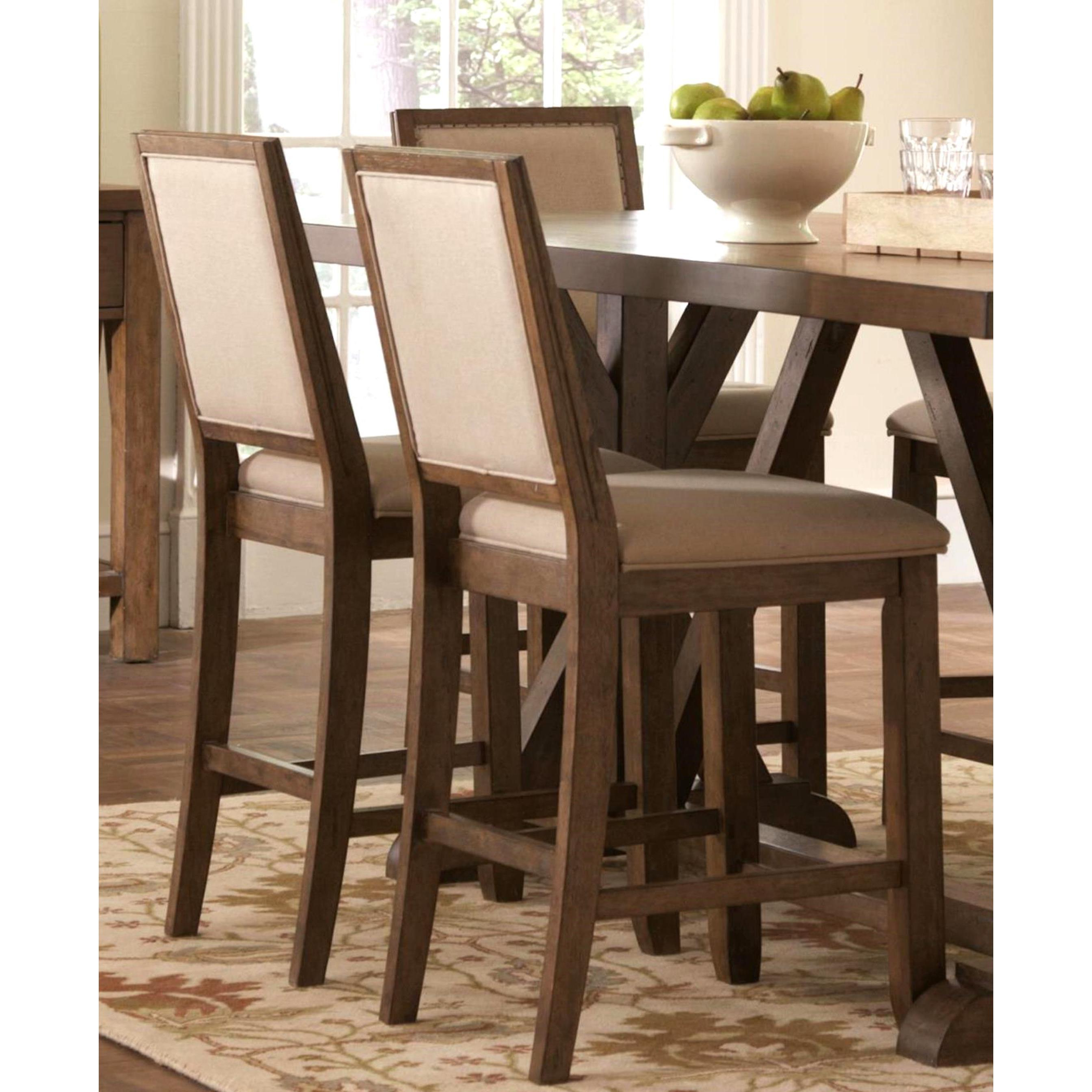 Well Known Wallflower 3 Piece Dining Sets Regarding Shop Sontuoso Rustic Trestle Base European Design Counter Height  (View 23 of 25)