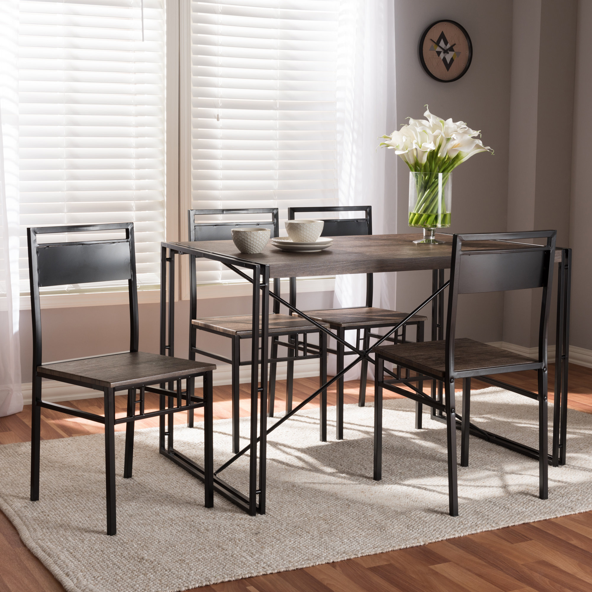 Well Known Williston Forge Mizell 5 Piece Dining Set  (View 22 of 25)