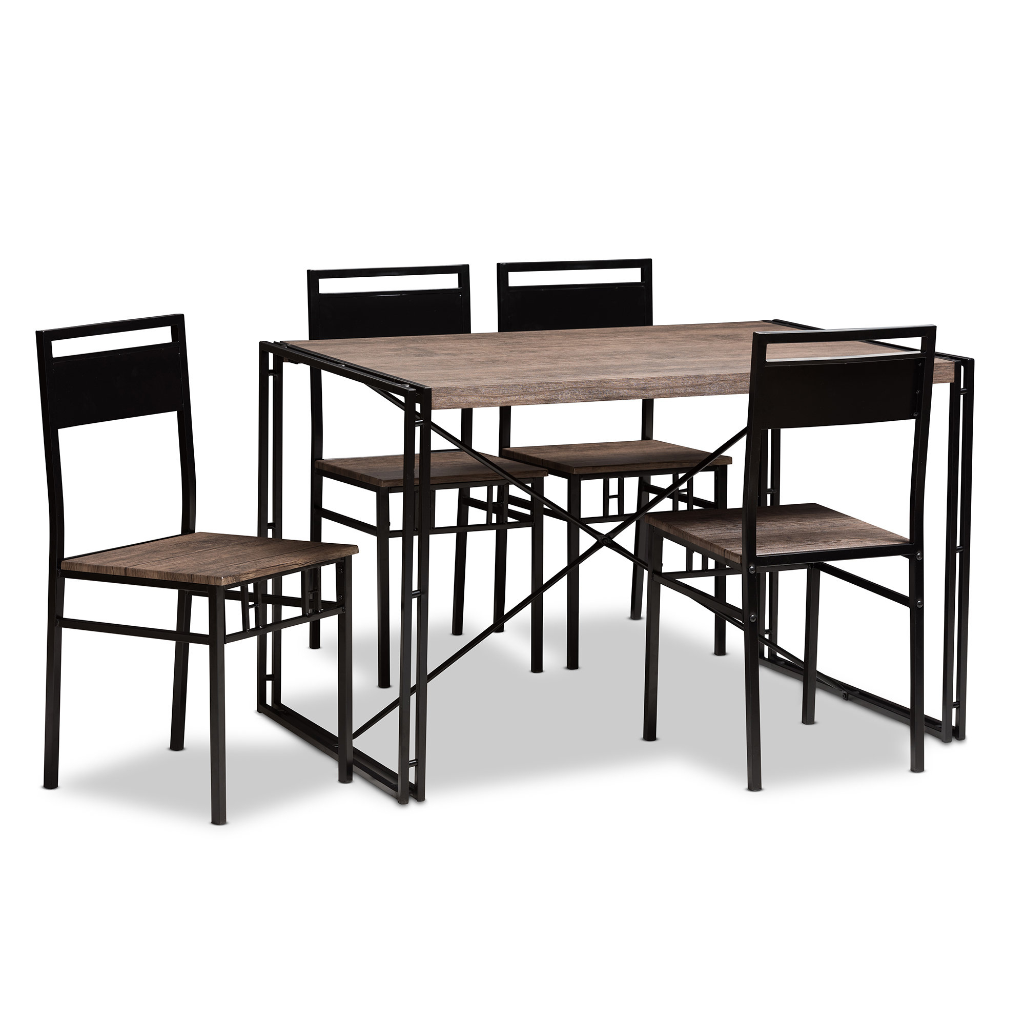 Well Known Williston Forge Mizell 5 Piece Dining Set & Reviews (View 24 of 25)