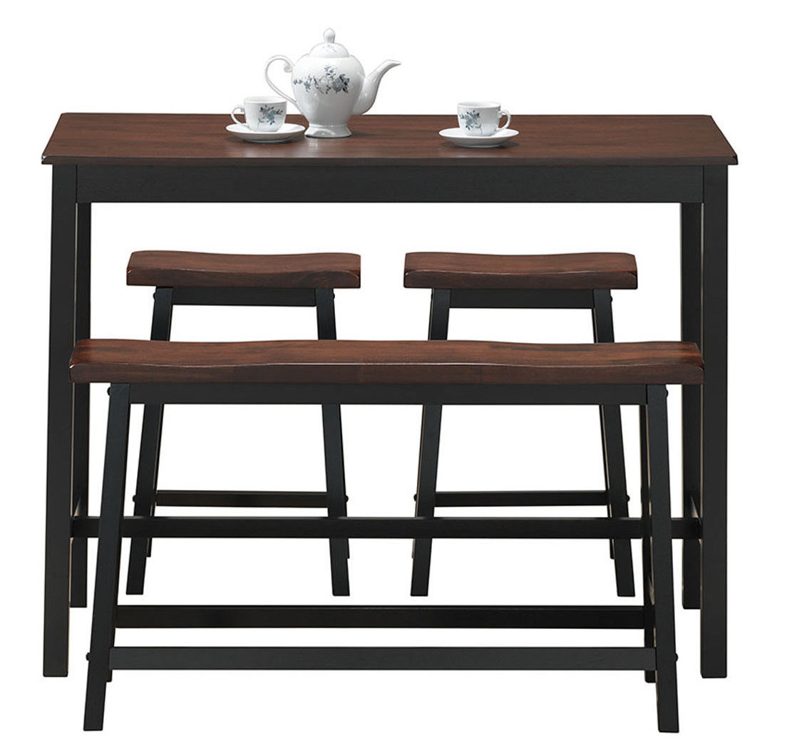 Well Known Winsted 4 Piece Counter Height Dining Sets Pertaining To Millwood Pines Castillo 4 Piece Breakfast Nook Dining Set & Reviews (View 21 of 25)