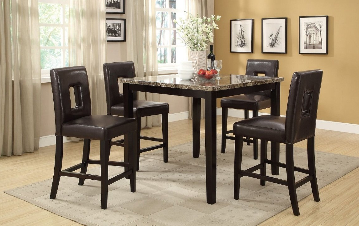 Well Liked Askern 3 Piece Counter Height Dining Sets (Set Of 3) Within A&j Homes Studio Reagan 5 Piece Counter Height Dining Set (View 8 of 25)