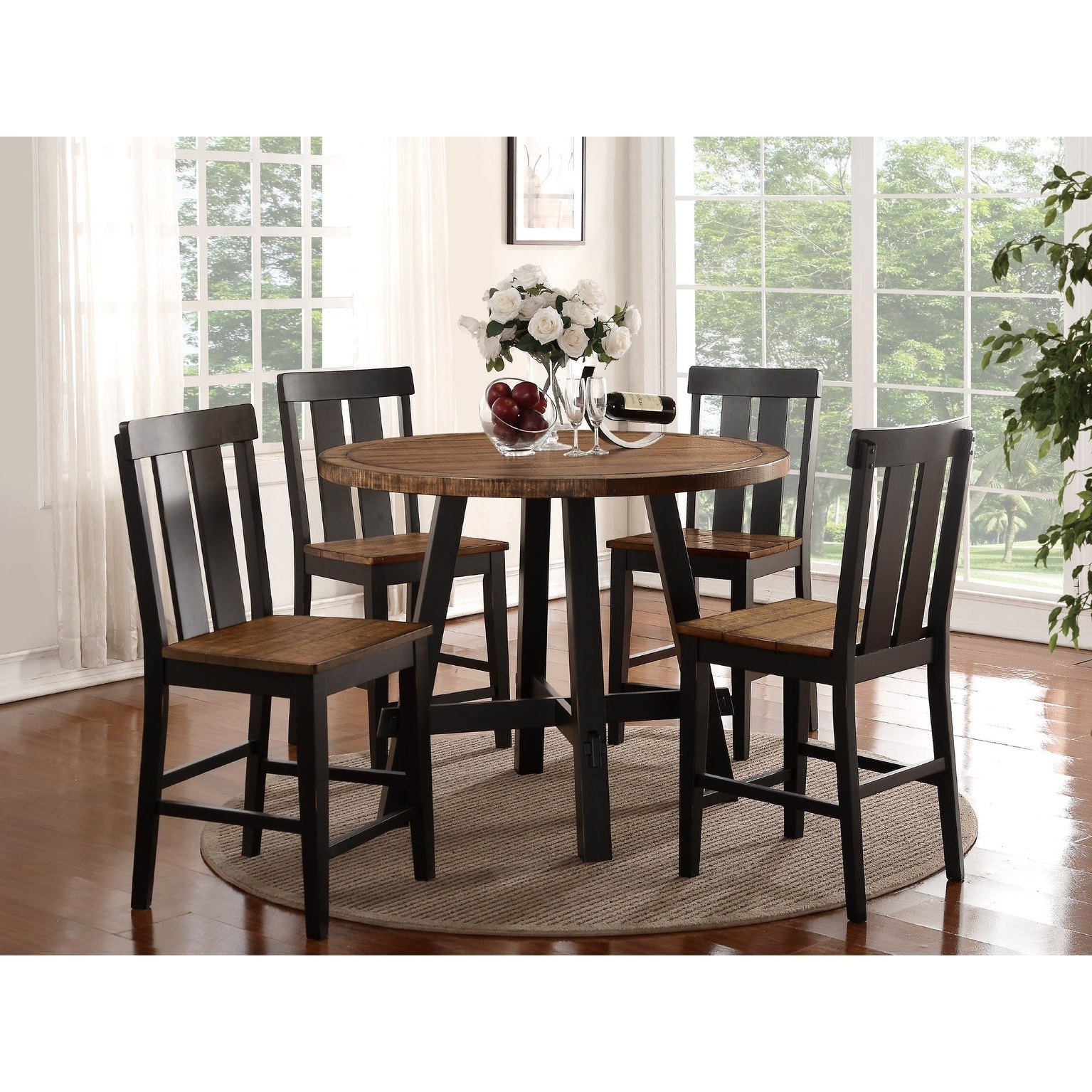 Well Liked Goodman 5 Piece Solid Wood Dining Sets (Set Of 5) With Shop Goodman 5 Piece Counter Height Dining Set – Free Shipping Today (View 2 of 25)