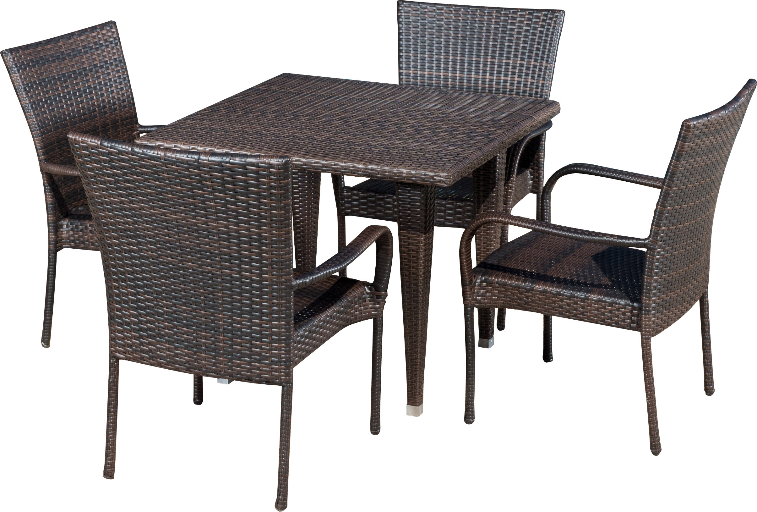 Well Liked Gunning Outdoor 5 Piece Dining Set & Reviews (View 14 of 25)