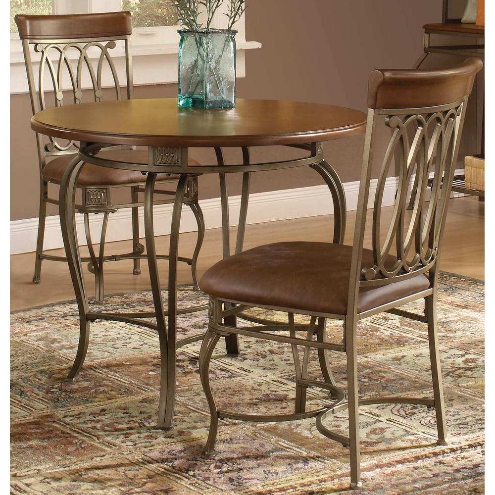 Well Liked Hillsdale Furniture Montello 3 Piece Old Steel Dining Set Inside 3 Piece Dining Sets (View 9 of 25)