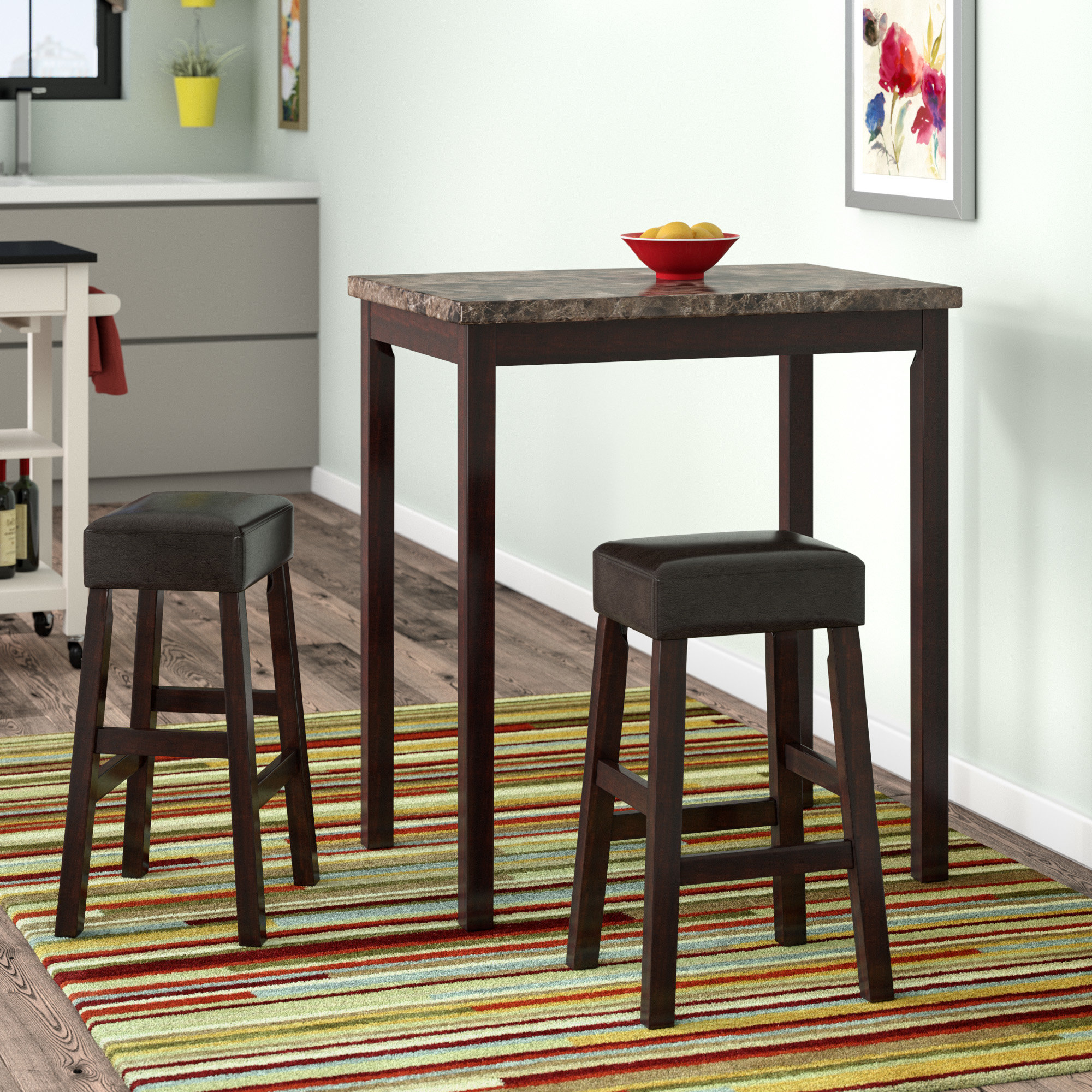 Well Liked Latitude Run Deitch 3 Piece Counter Height Dining Set (View 17 of 25)