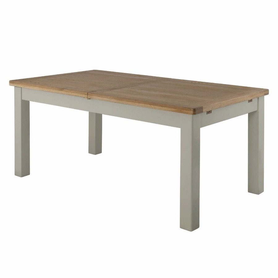 Well Liked Northwoods 3 Piece Dining Sets For Northwood Extending Dining Table In Stone – Dining – Solent Beds Limited (View 6 of 25)