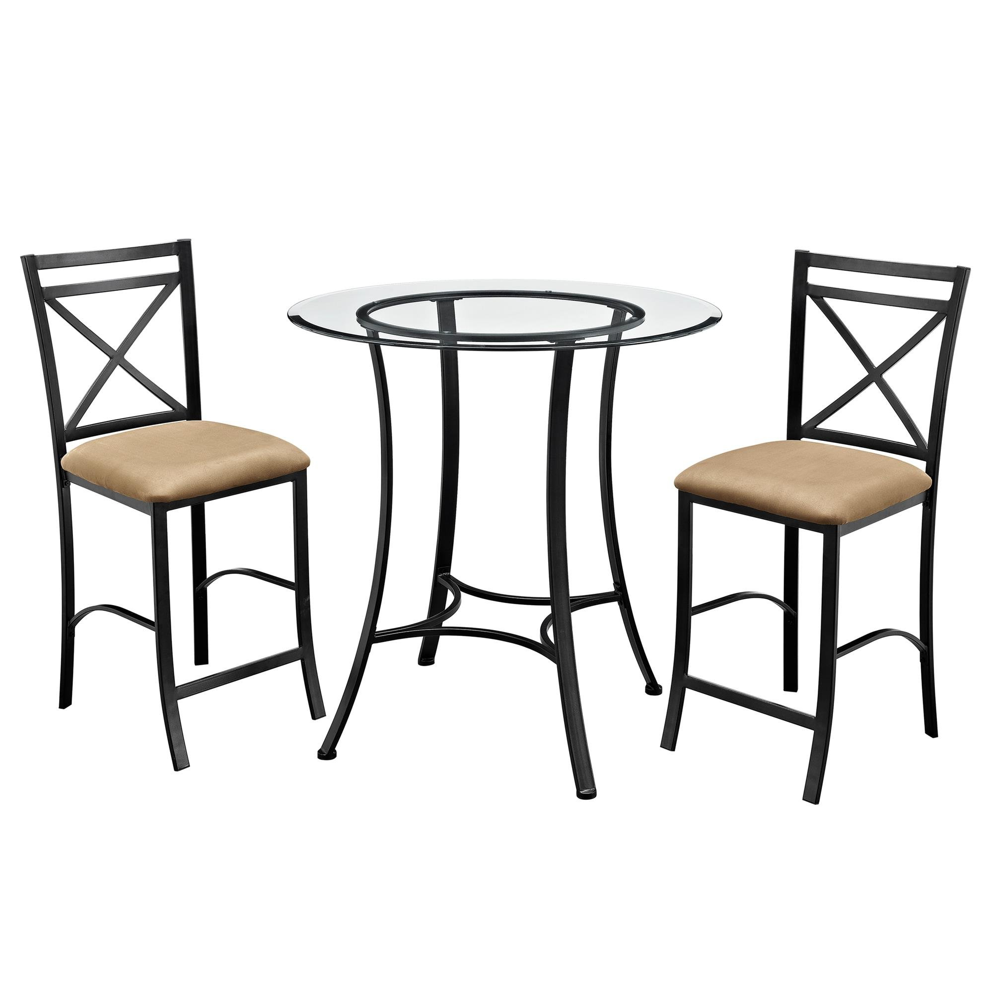 Well Liked Nutter 3 Piece Dining Sets Throughout Saleh 3 Piece Dining Set & Reviews (View 23 of 25)
