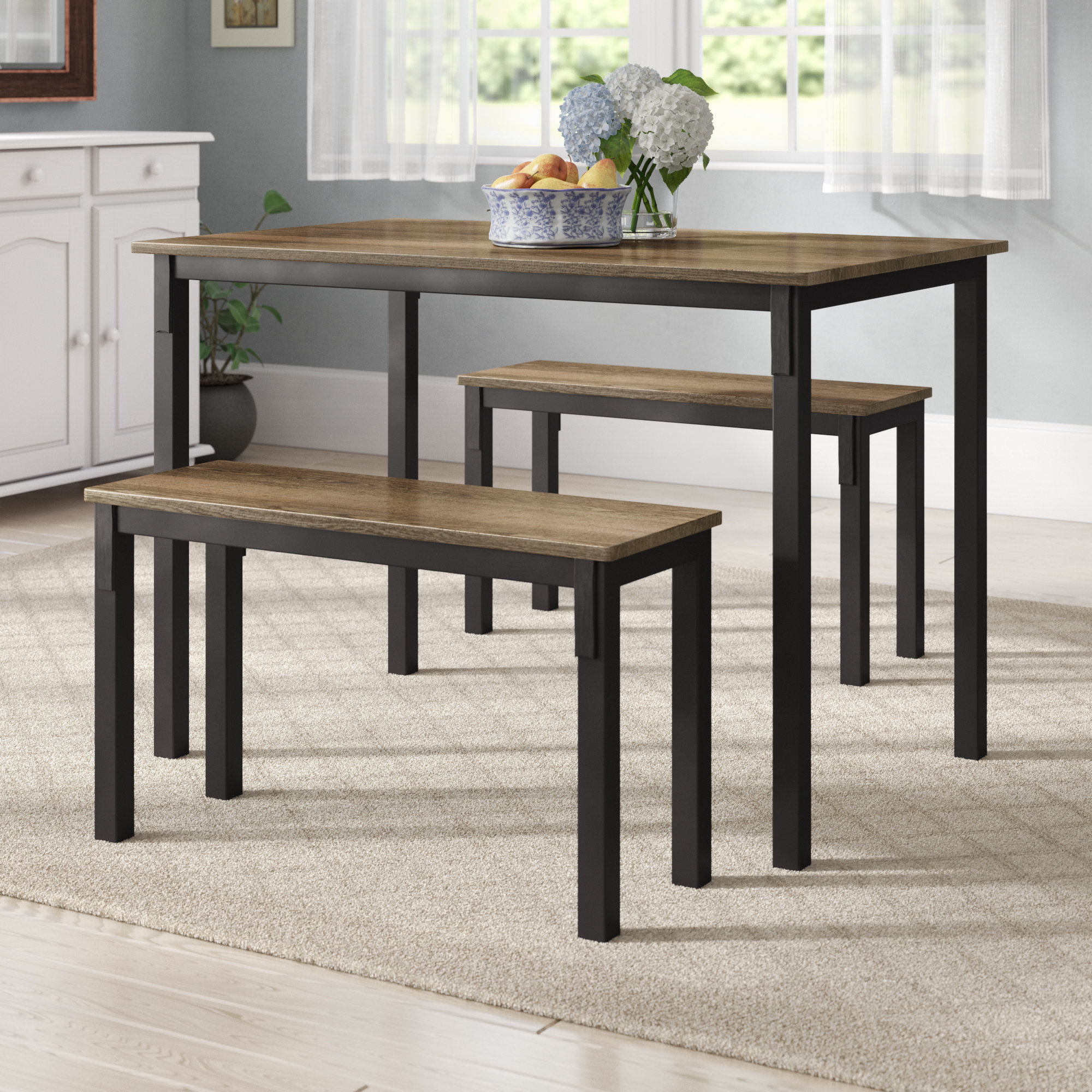 Well Liked Partin 3 Piece Dining Sets Throughout Andover Mills Rossiter 3 Piece Dining Set & Reviews (View 24 of 25)