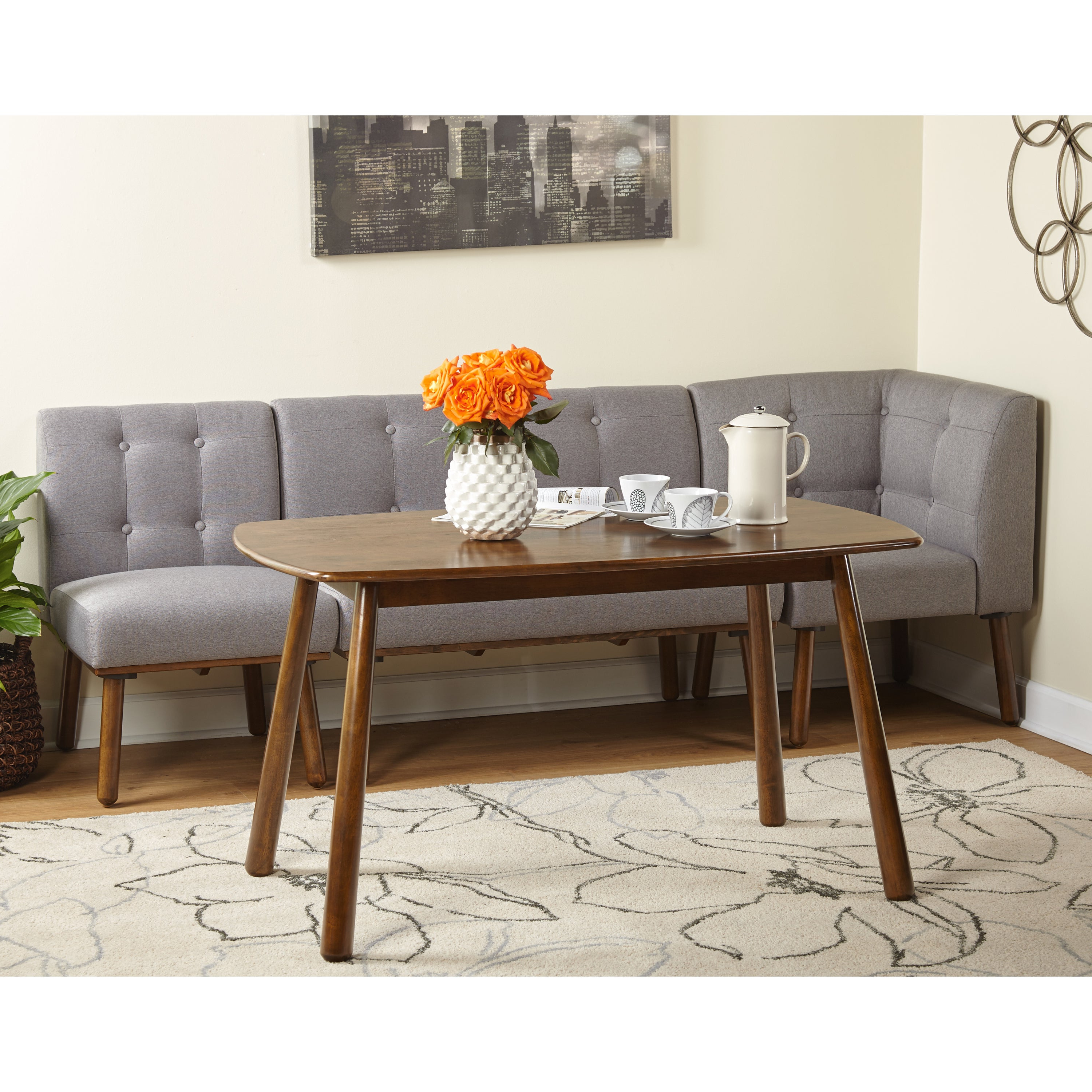 Well Liked Shop Simple Living 4 Piece Playmate Nook Dining Set – On Sale – Free With Regard To Maloney 3 Piece Breakfast Nook Dining Sets (View 6 of 25)