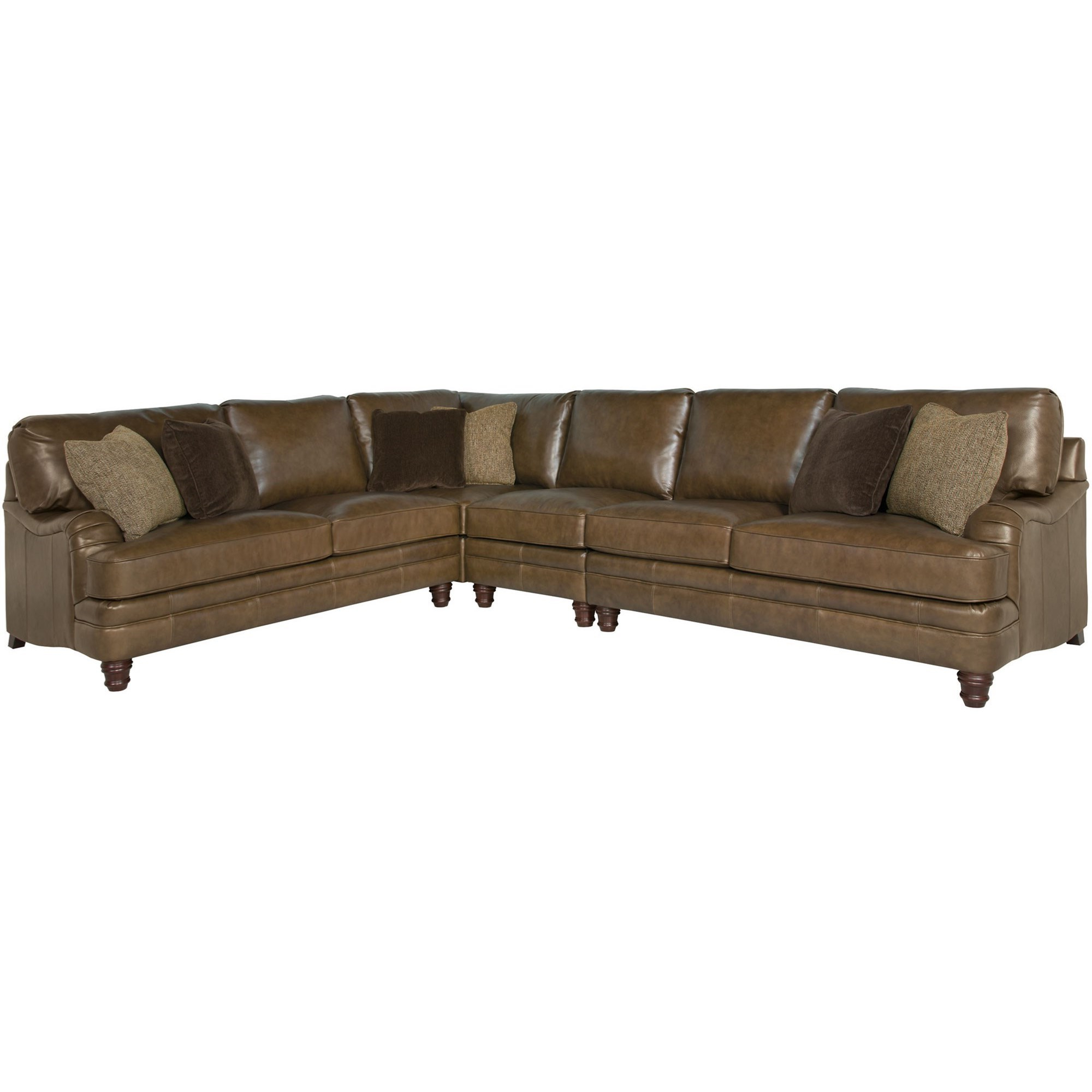 Well Liked Tarleton 5 Piece Dining Sets Inside Bernhardt Tarleton Traditional Styled Sectional Sofa (View 19 of 25)