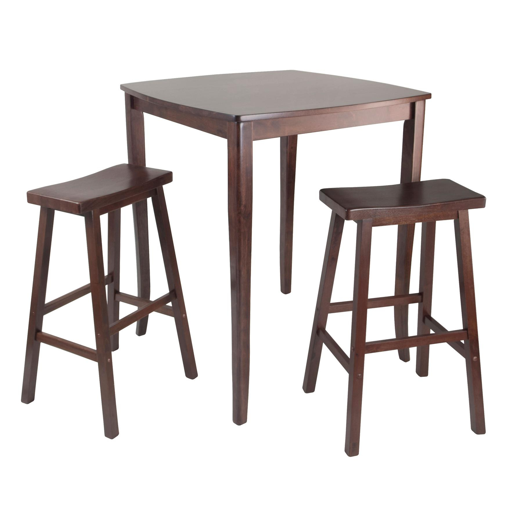 Well Liked Winsome 3 Piece Counter Height Dining Sets Pertaining To Amazon: Winsome Inglewood High/pub Dining Table With Saddle (View 15 of 25)