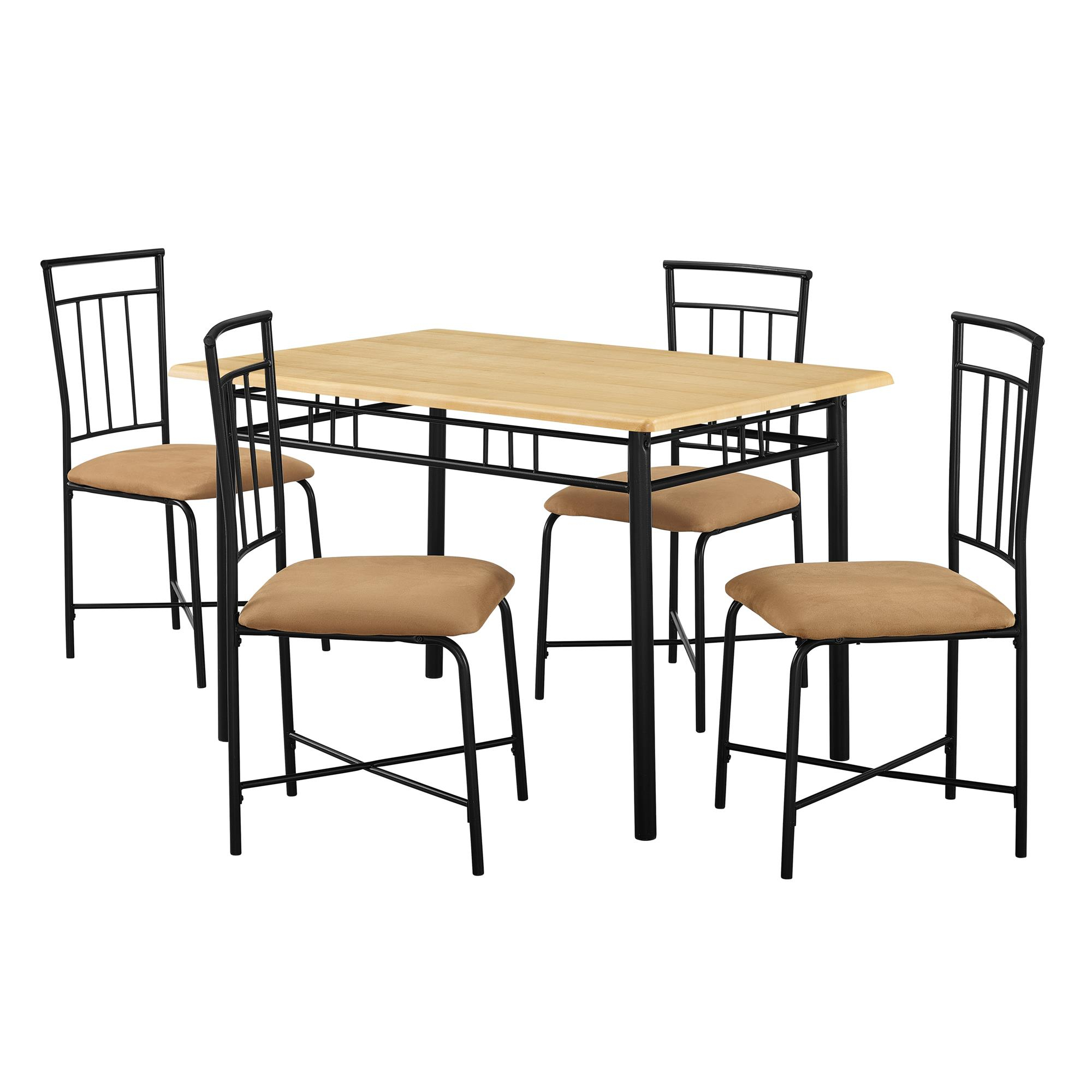 West Hill Family Table 3 Piece Dining Sets For Most Popular Mainstays 5 Piece Dining Set, Multiple Colors – Walmart (View 22 of 25)