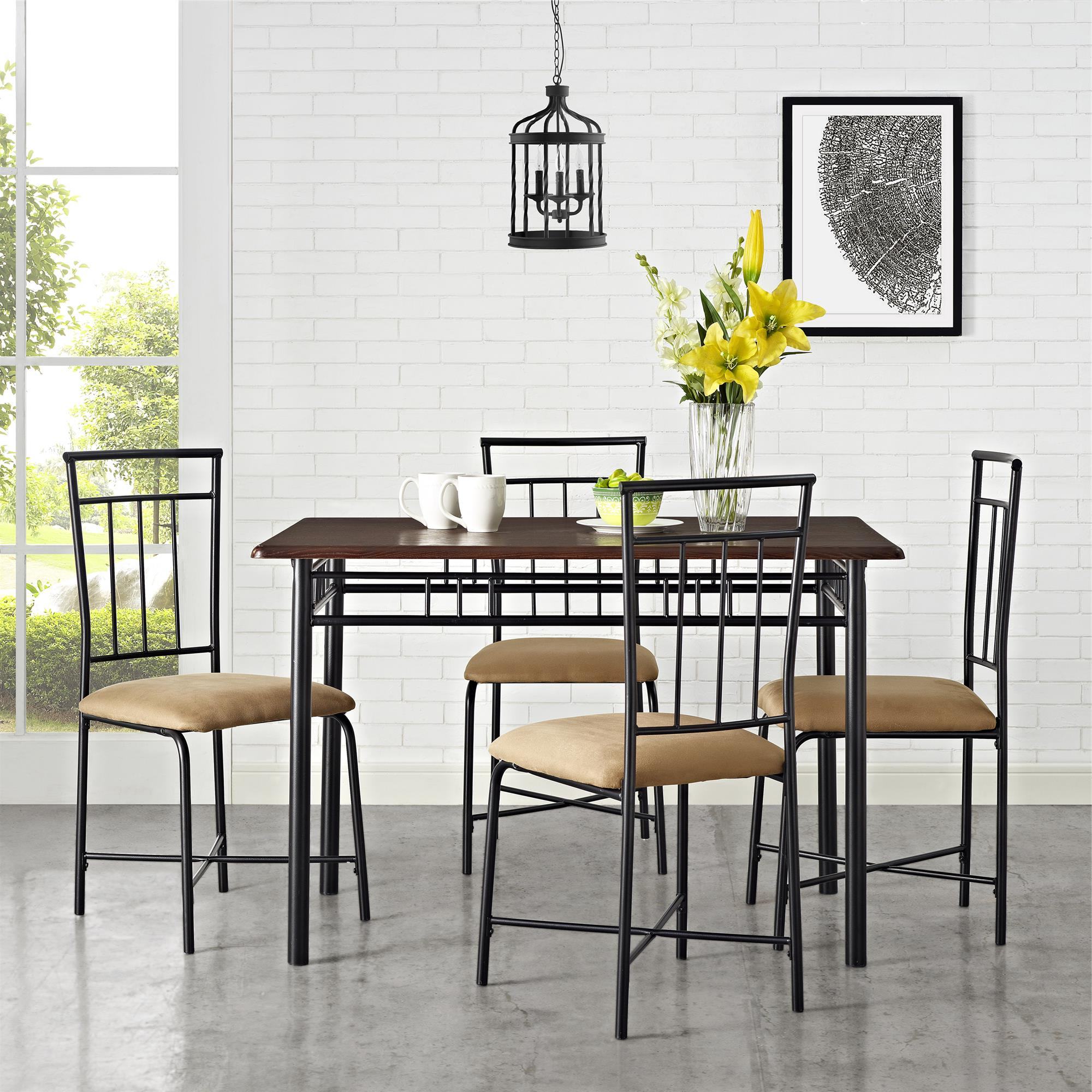 West Hill Family Table 3 Piece Dining Sets In Newest Mainstays 5 Piece Dining Set, Multiple Colors – Walmart (View 20 of 25)
