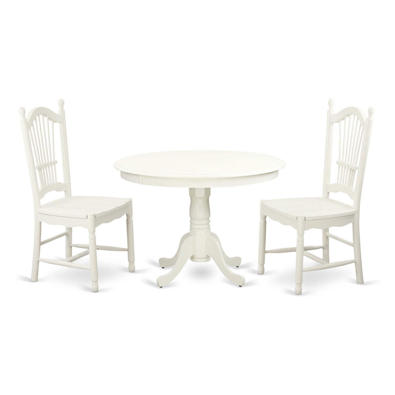 West Hill Family Table 3 Piece Dining Sets With Preferred East West Furniture Hartland 3 Piece Sheaf Back Dining Table Set (View 14 of 25)
